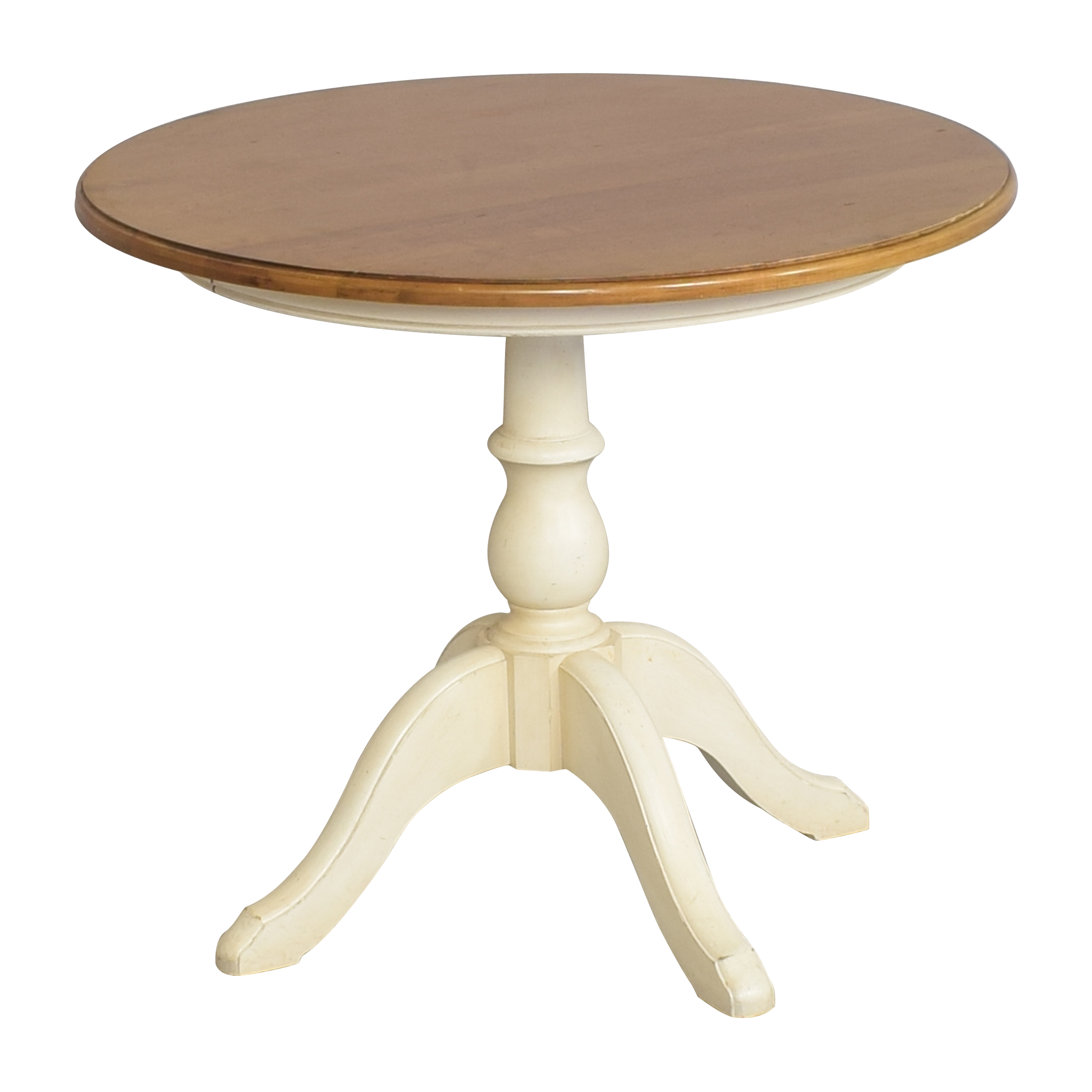 Ethan Allen Ethan Allen New Country Round Dining Table brown & beige