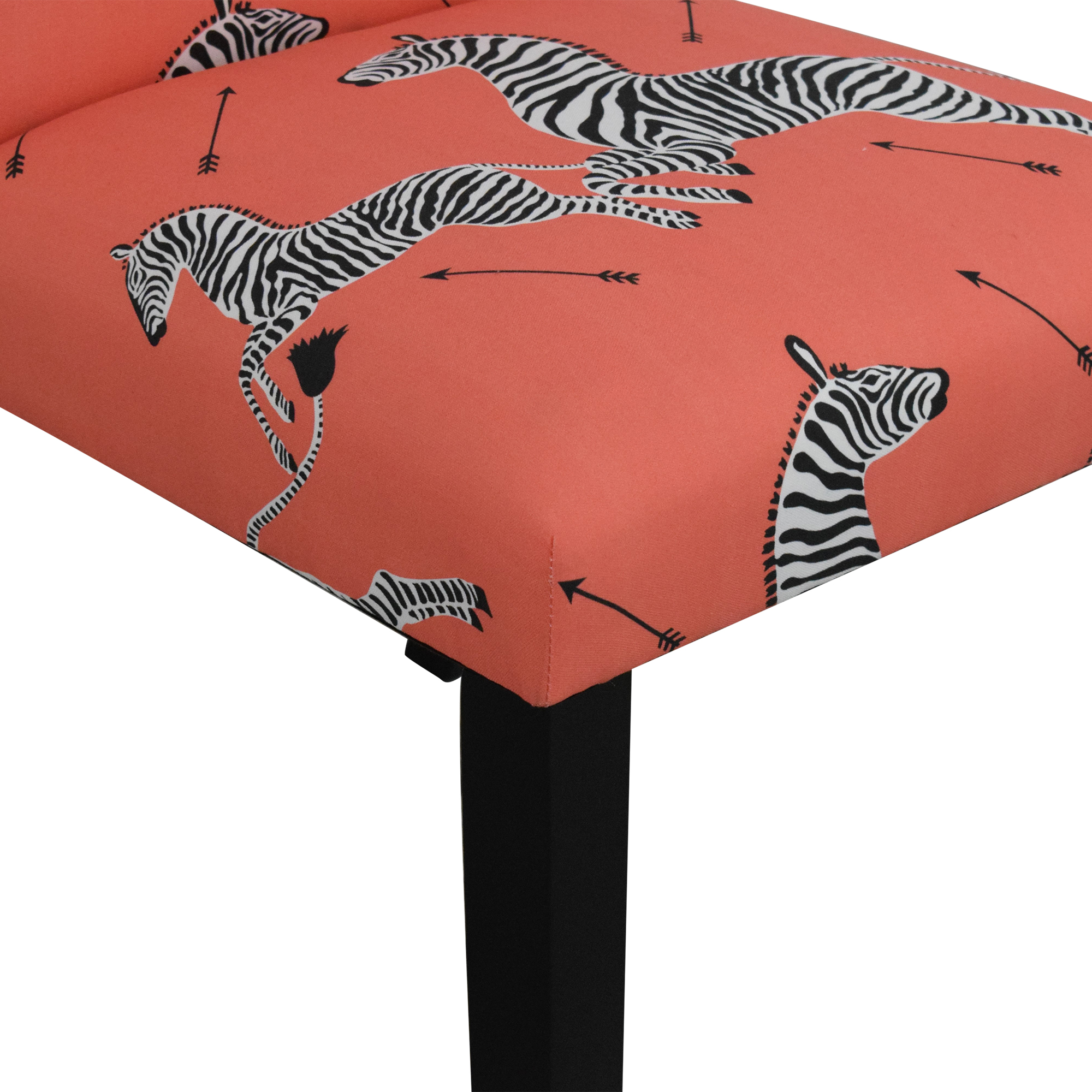 The Inside The Inside Coral Zebra Classic Dining Chair dimensions