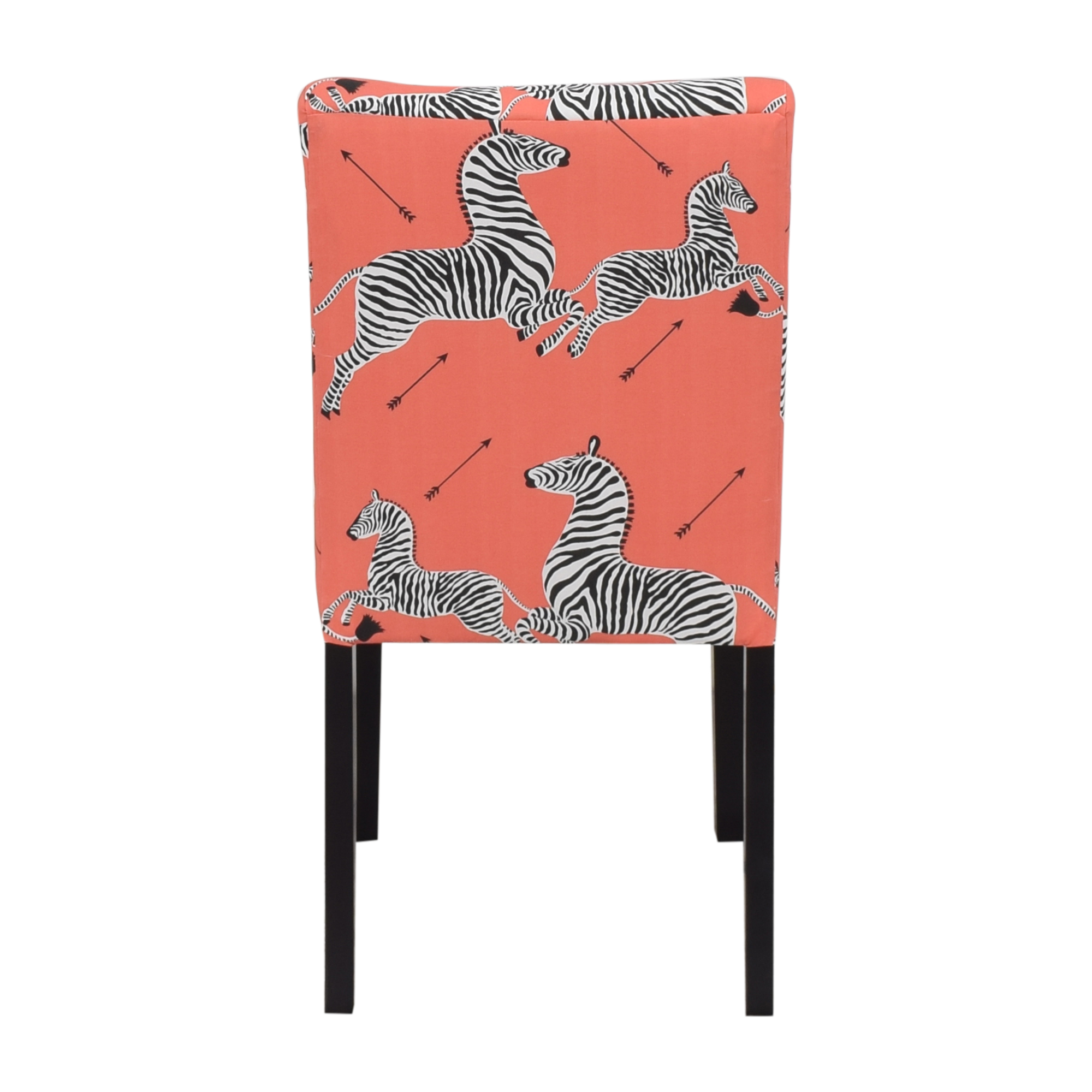 shop The Inside Coral Zebra Classic Dining Chair The Inside Dining Chairs