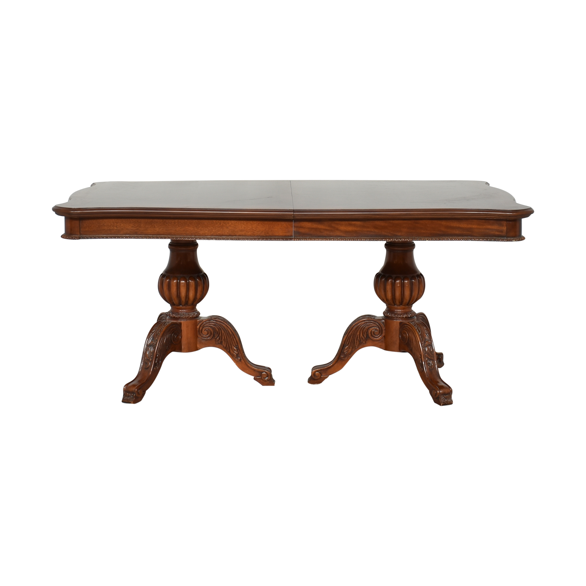 Raymour & Flanigan Raymour & Flanigan Double Pedestal Dining Table Dinner Tables