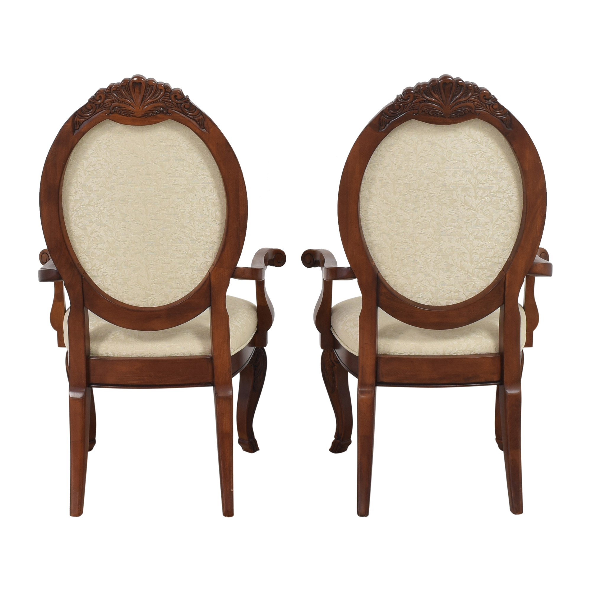 Raymour & Flanigan Raymour & Flanigan Oval Back Dining Arm Chairs coupon
