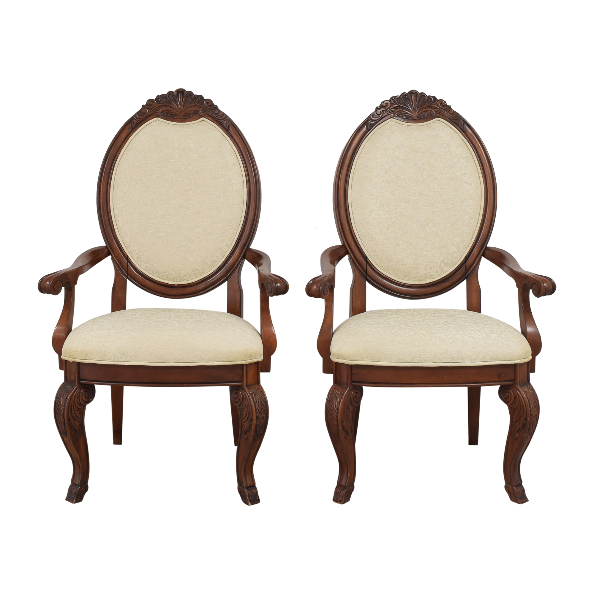 shop Raymour & Flanigan Oval Back Dining Arm Chairs Raymour & Flanigan Chairs