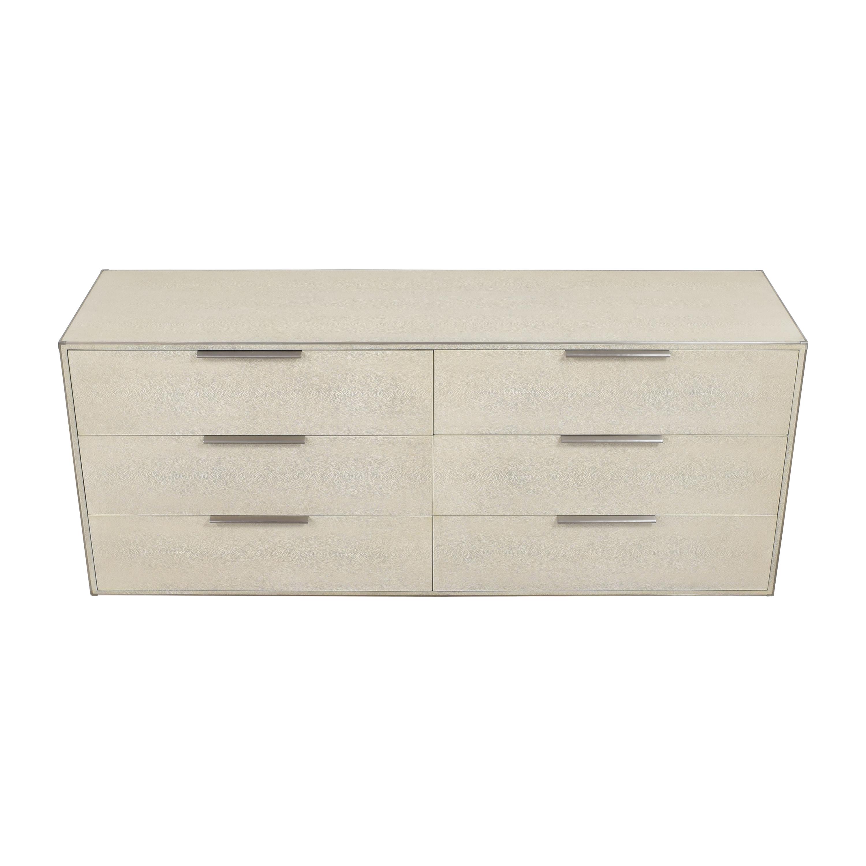 Restoration Hardware Saunderson Shagreen Six Drawer Dresser sale