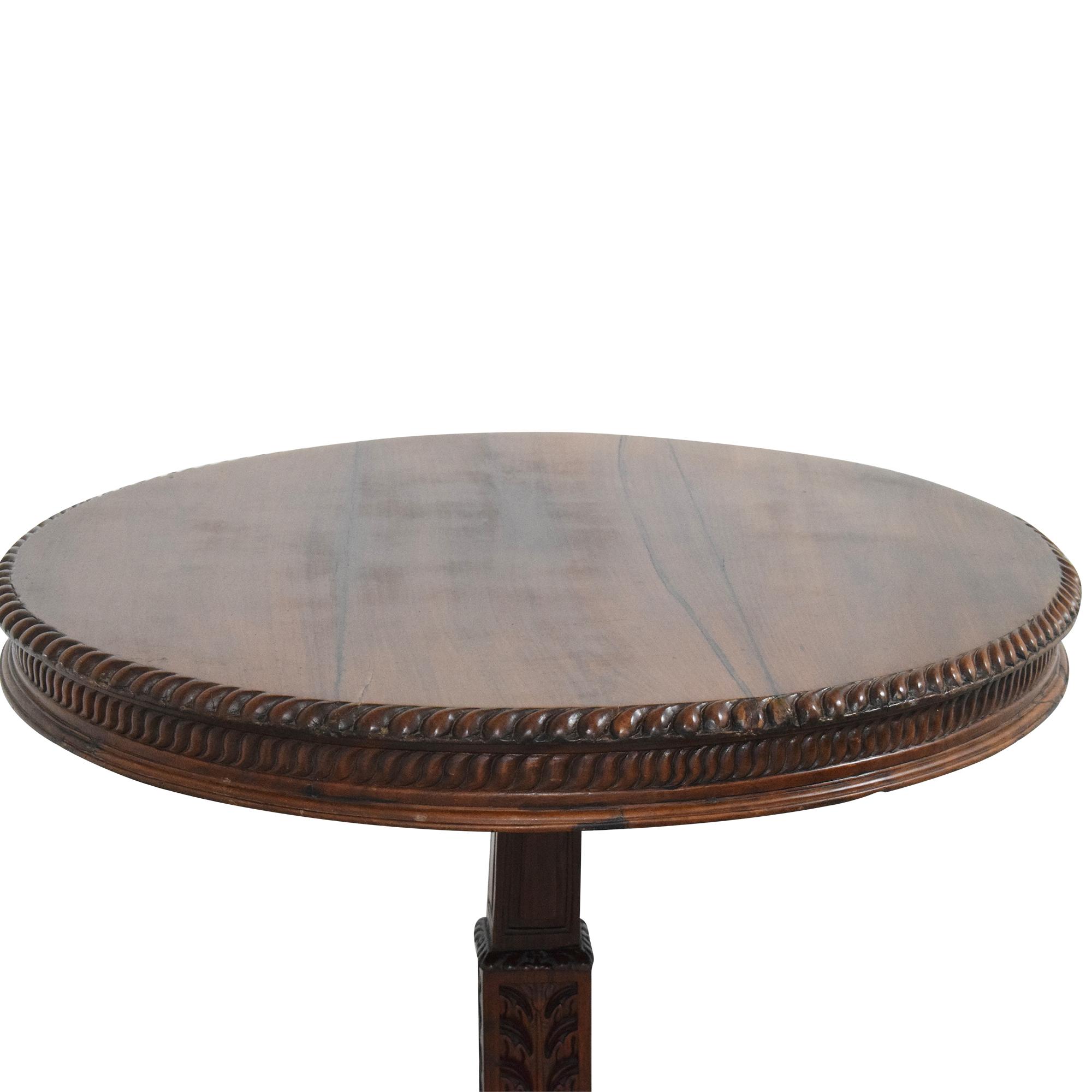 Vintage-Style Pedestal Game Table nj