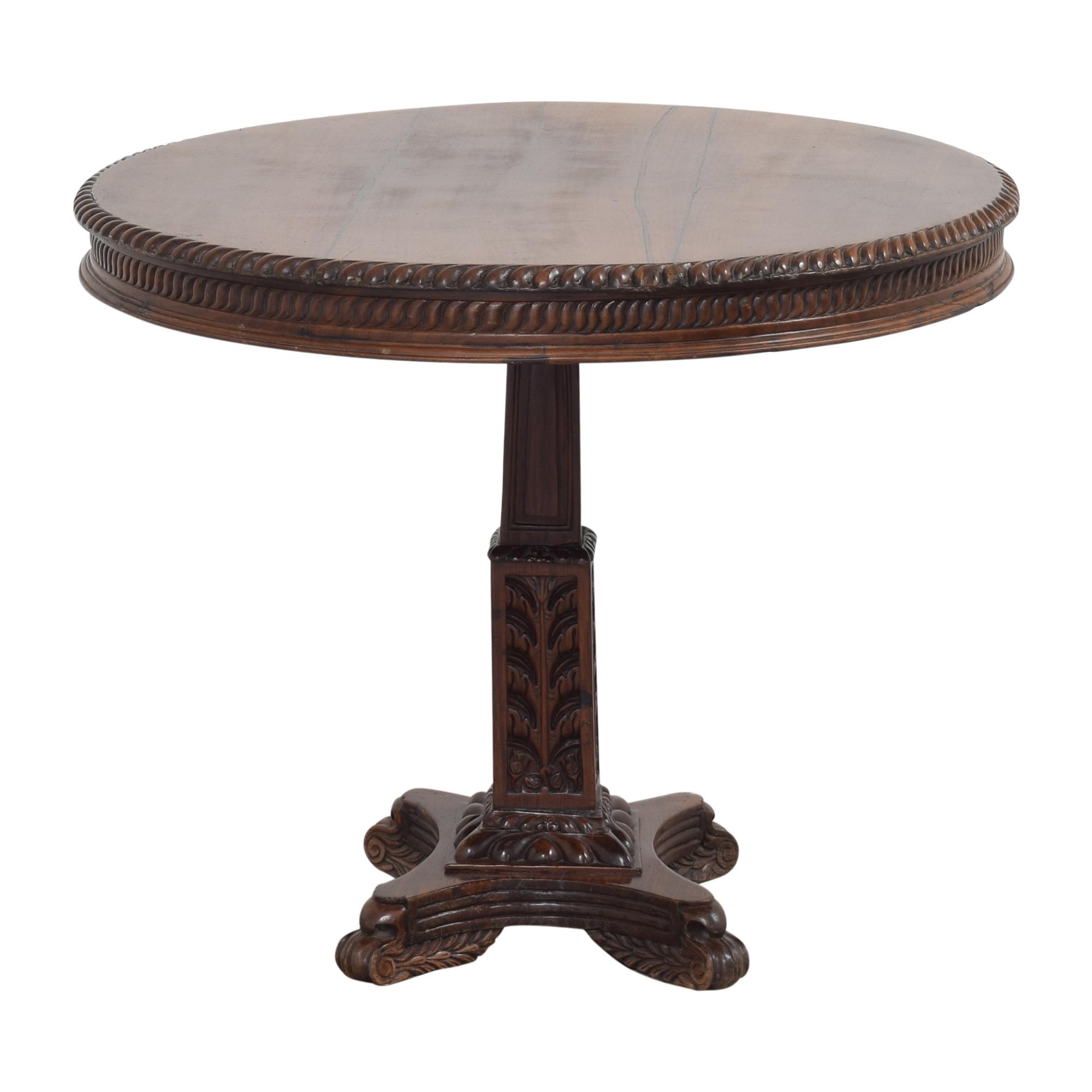 shop  Vintage-Style Pedestal Game Table online