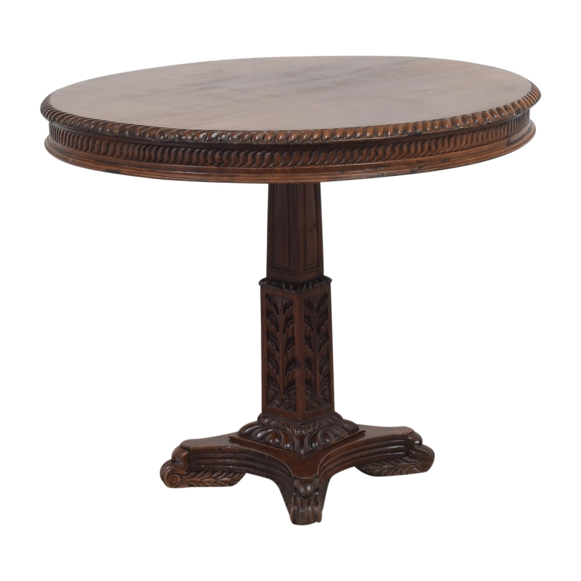 Vintage-Style Pedestal Game Table used