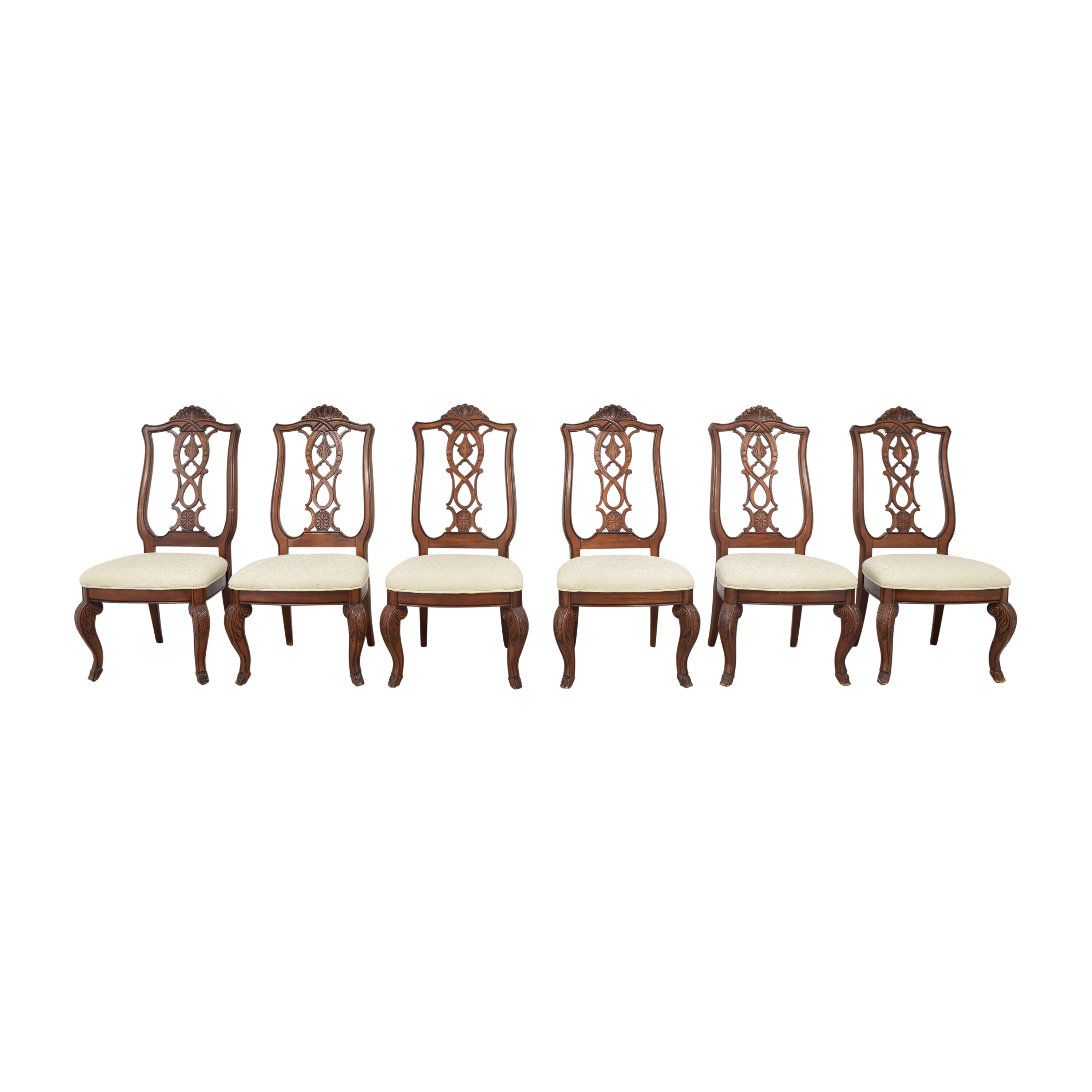 Raymour & Flanigan Raymour & Flanigan Upholstered Dining Chairs nyc