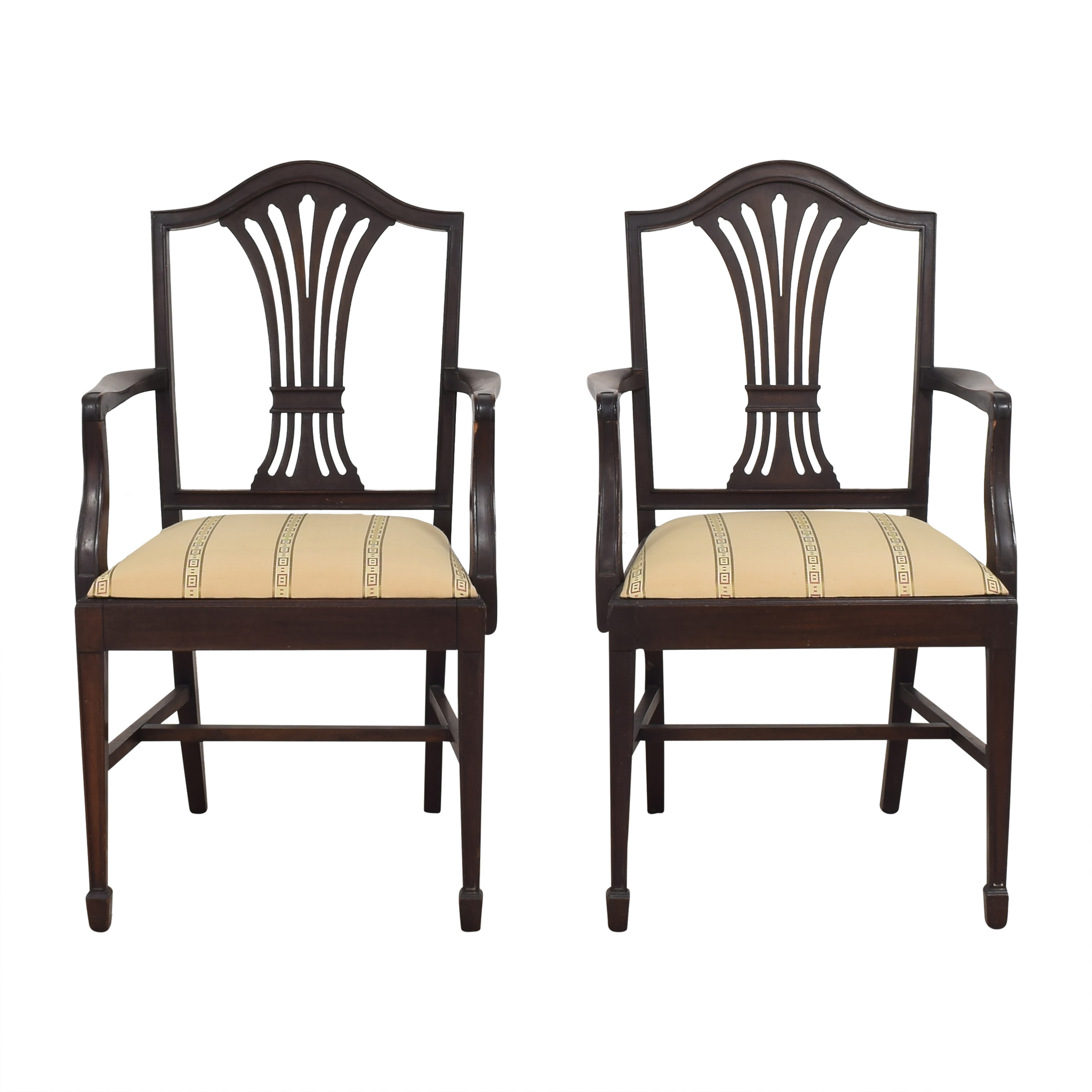 Sheaf Back Dining Arm Chairs on sale