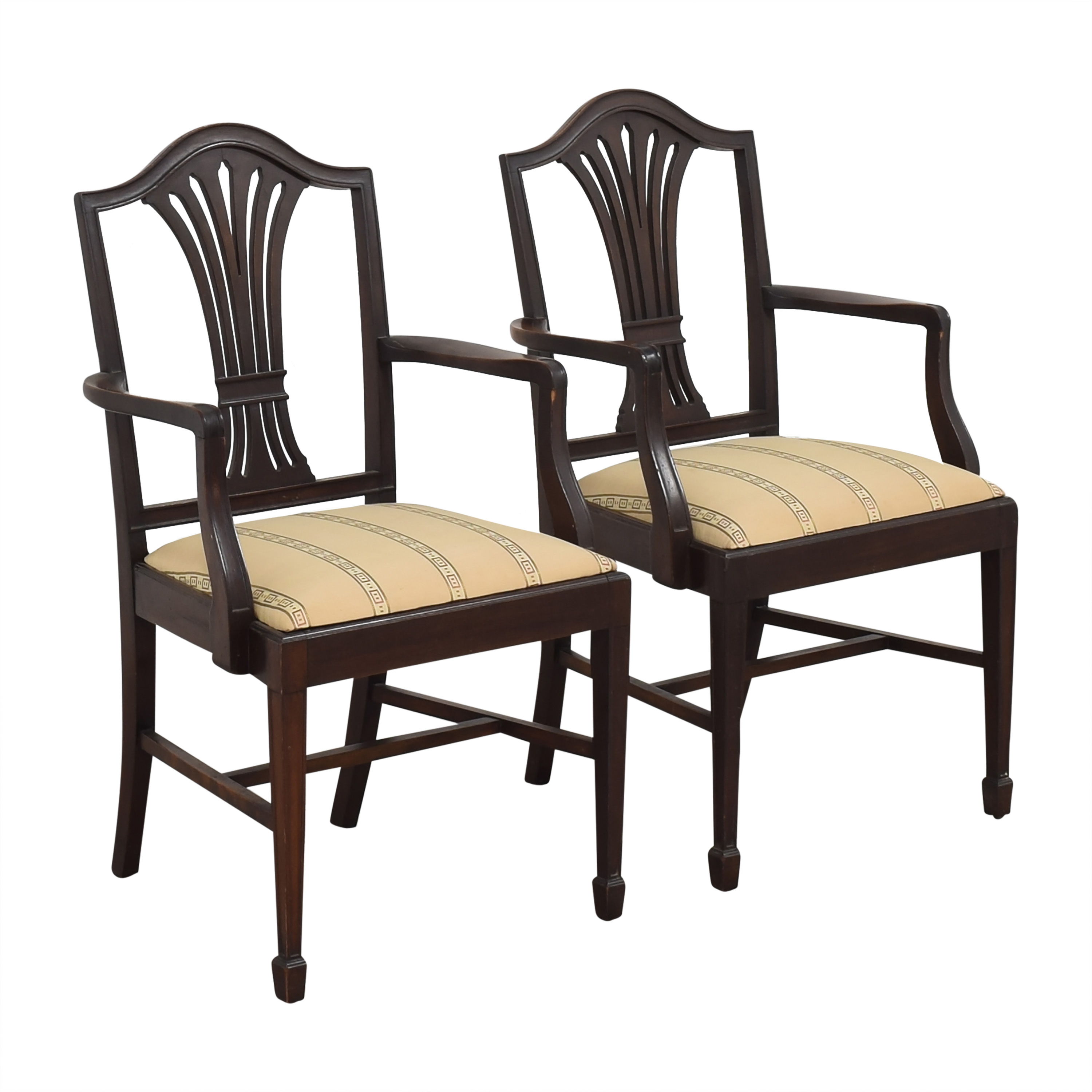Sheaf Back Dining Arm Chairs