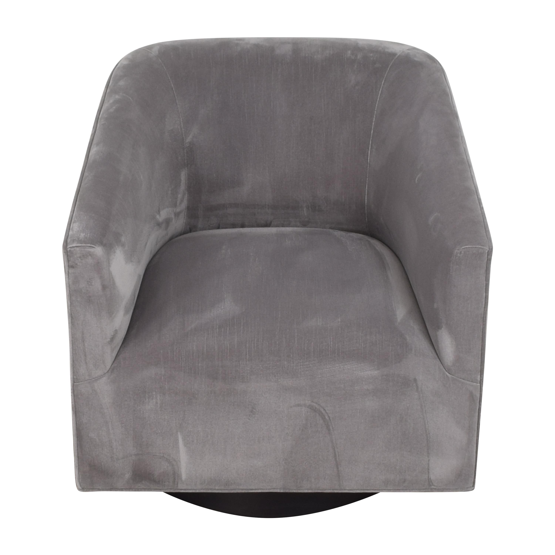 buy Restoration Hardware Restoration Hardware 1950s Italian Shelter Arm Swivel Chair online