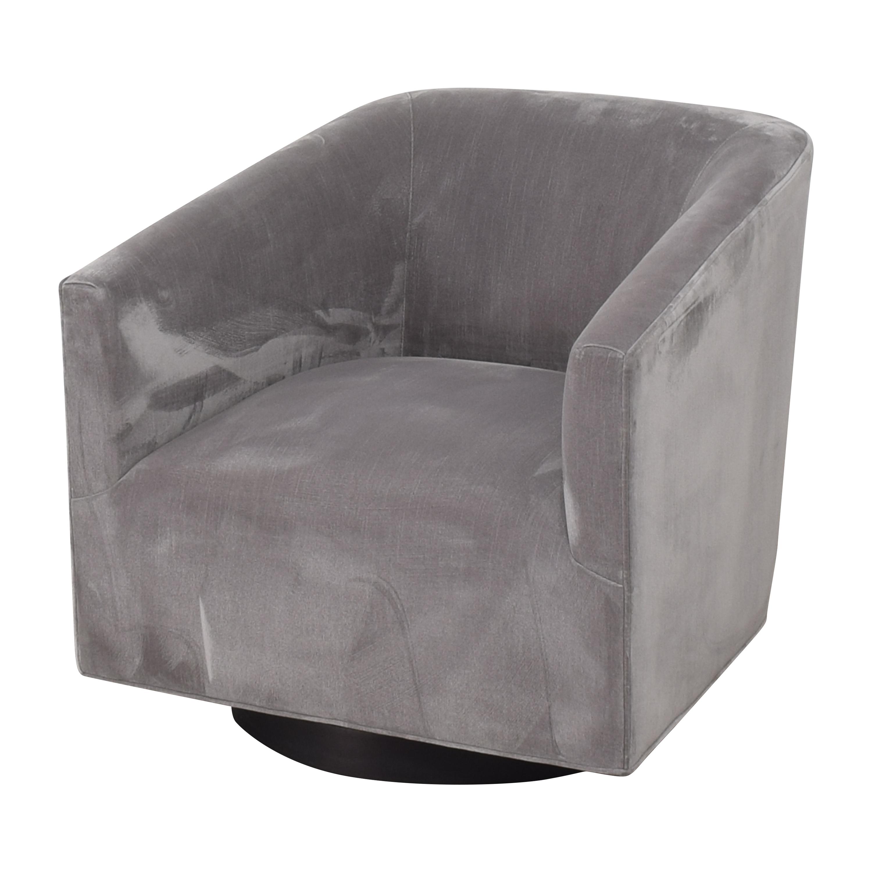 Restoration Hardware 1950s Italian Shelter Arm Swivel Chair / Chairs