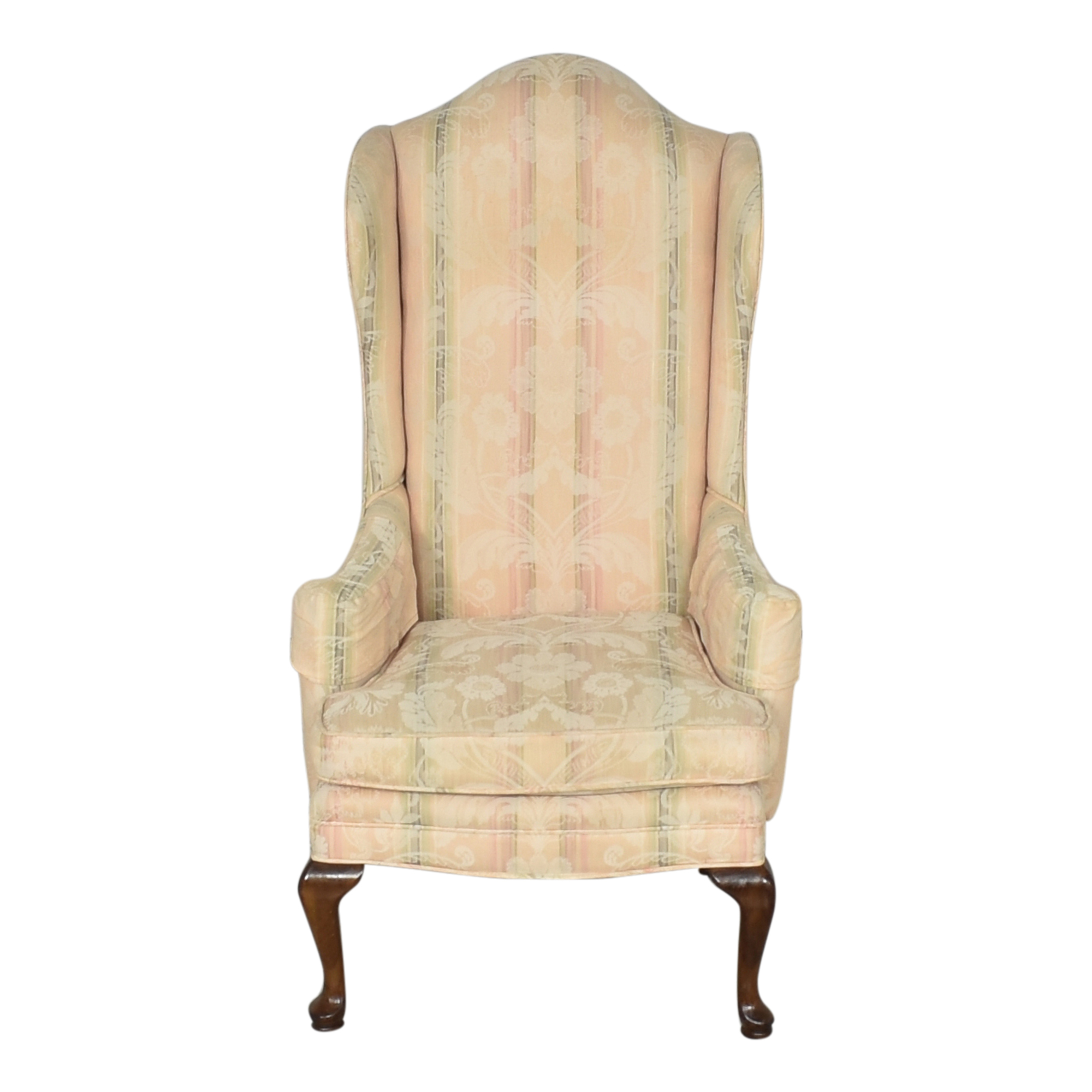 buy Custom Upholstered Queen Anne Wing Chair  Accent Chairs