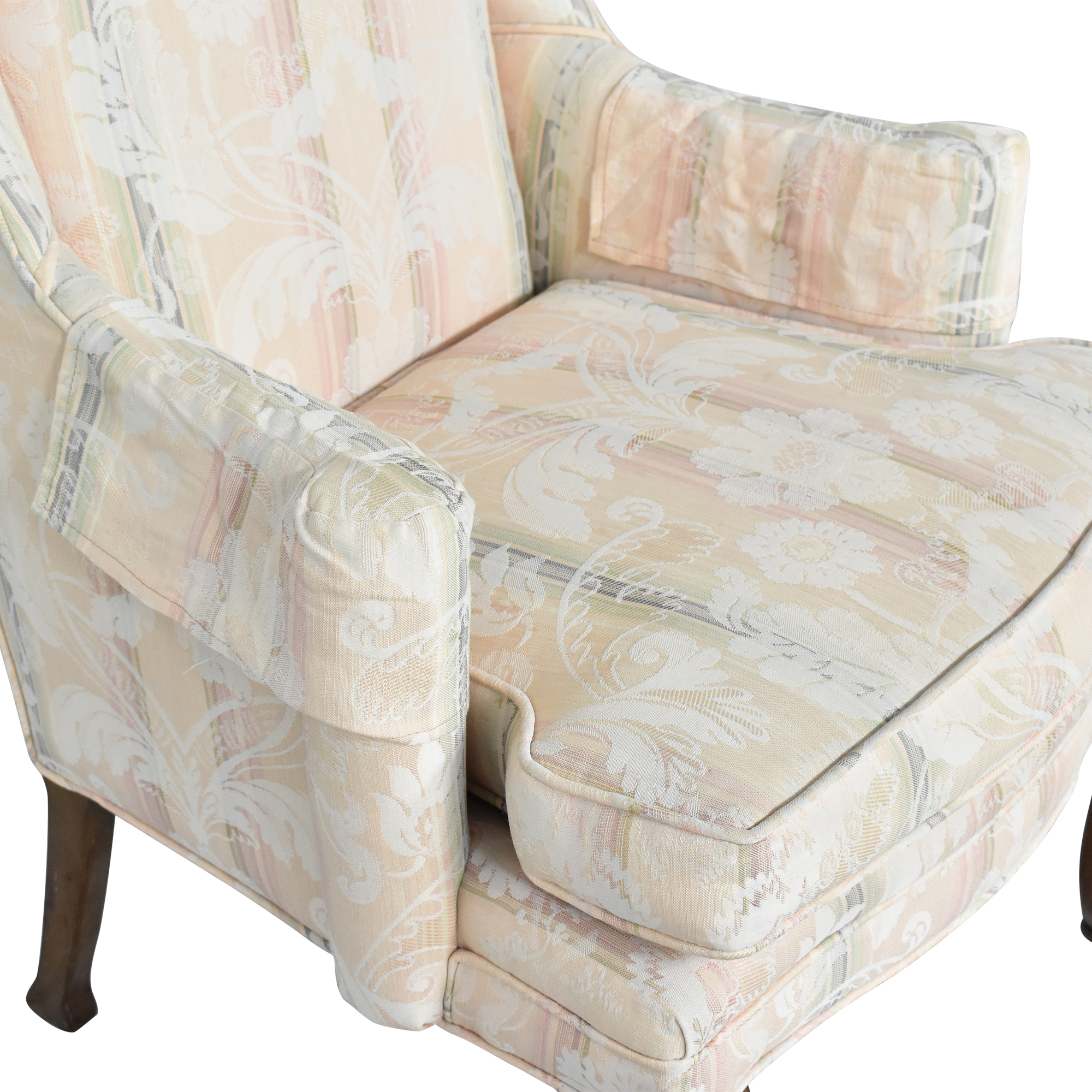Custom Upholstered Queen Anne Wing Chair