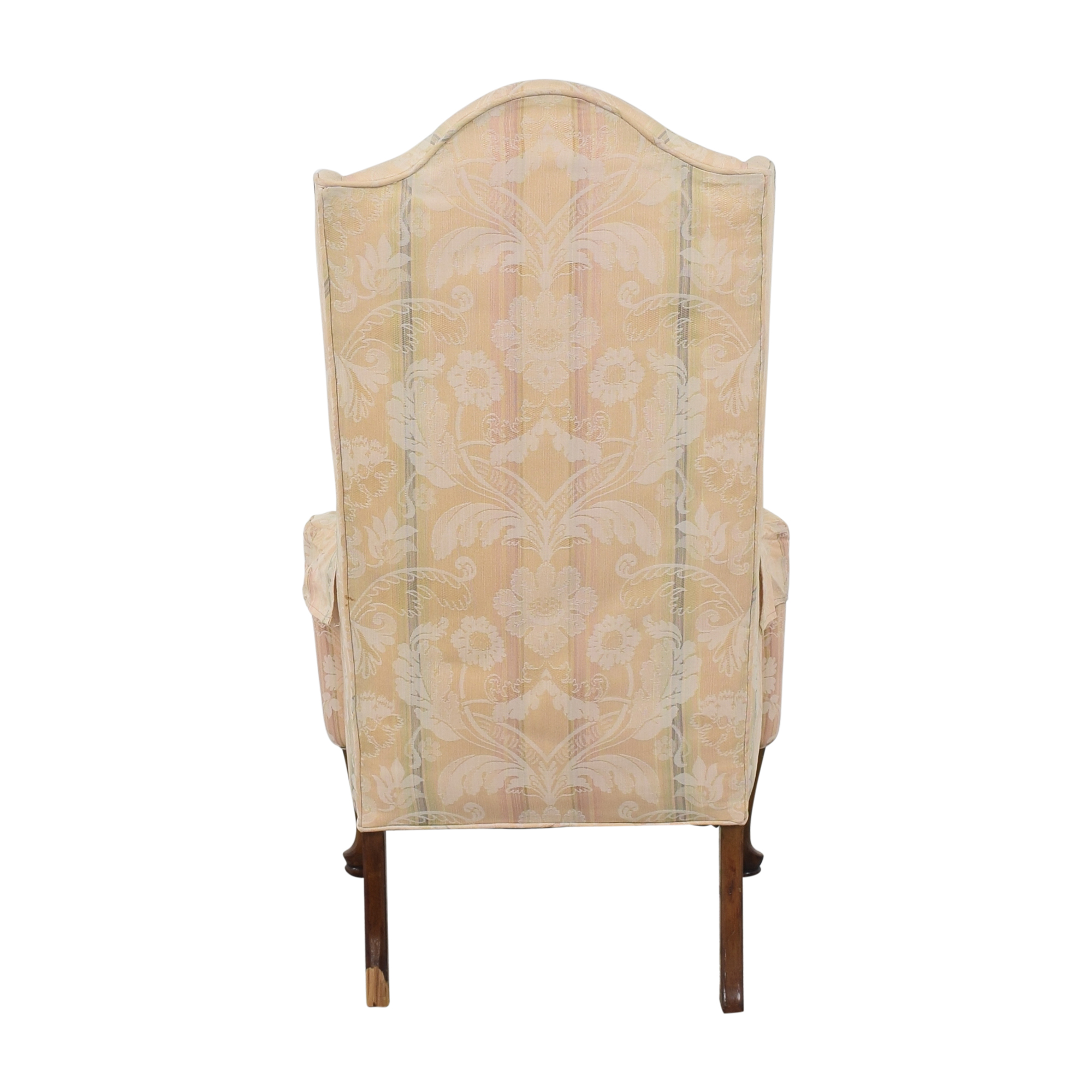 Custom Upholstered Queen Anne Wing Chair nj