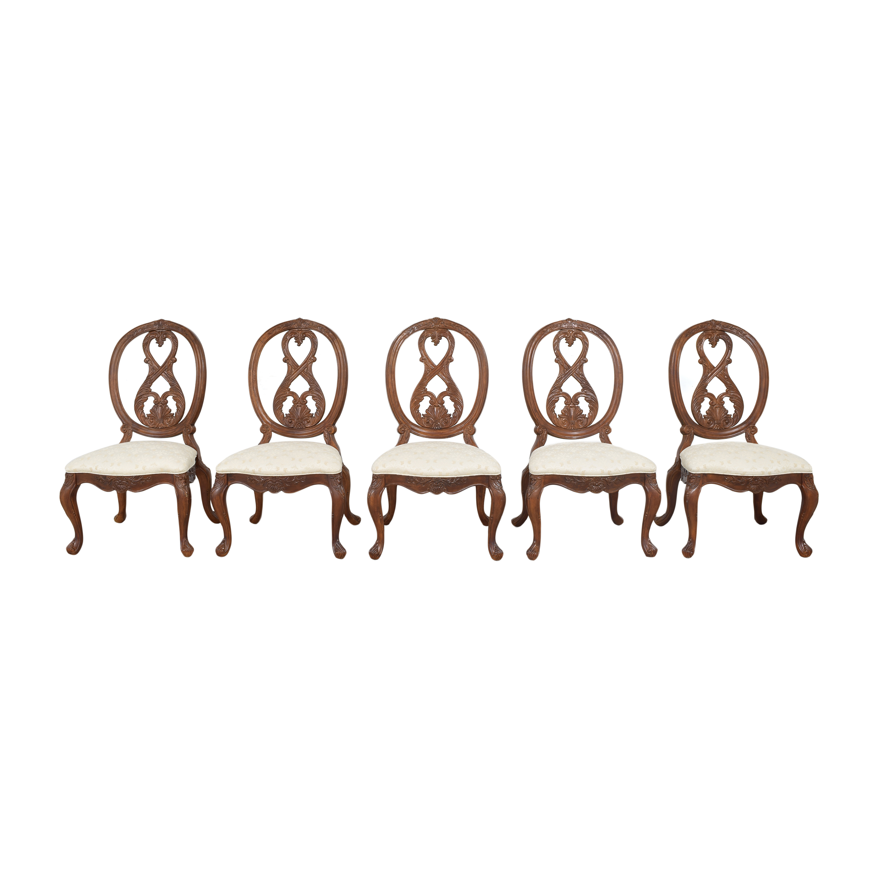 American Drew American Drew Jessica McClintock Home Oval Back Side Dining Chairs on sale
