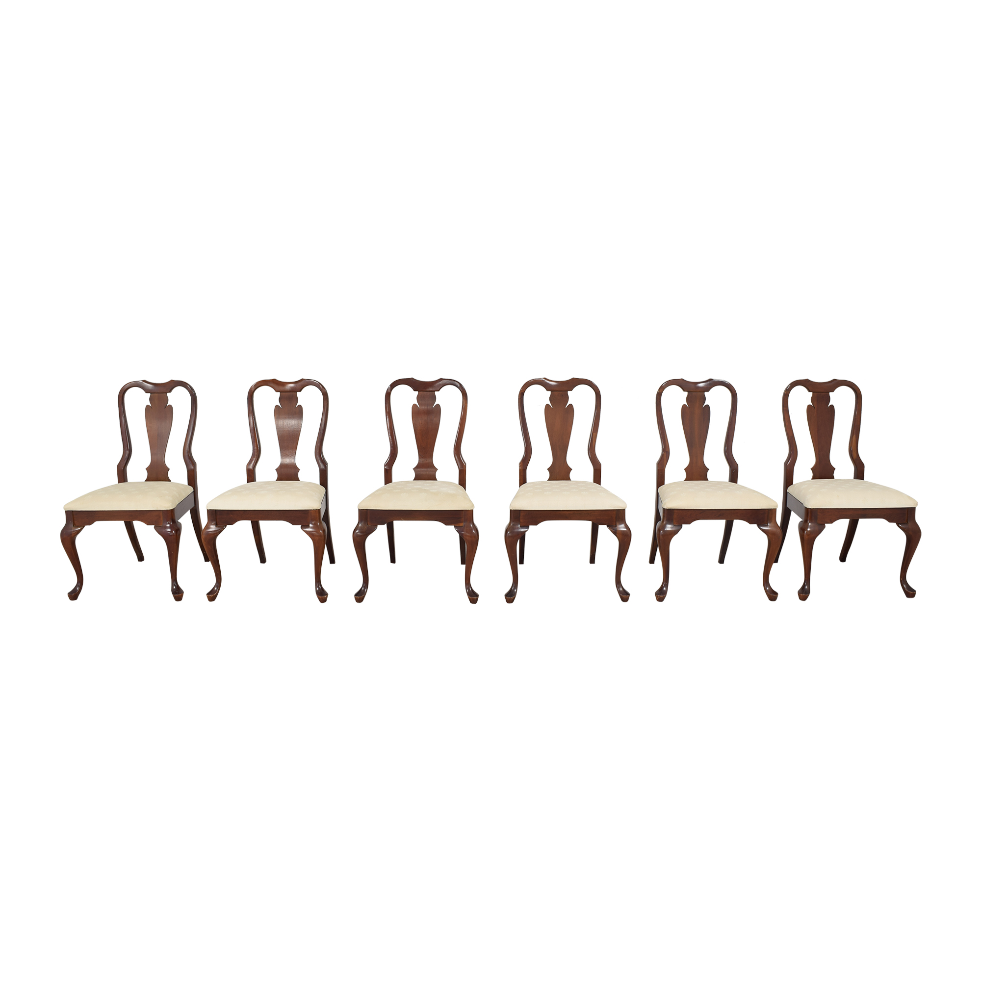 Cresent Furniture Cresent Furniture Queen Anne Dining Side Chairs for sale