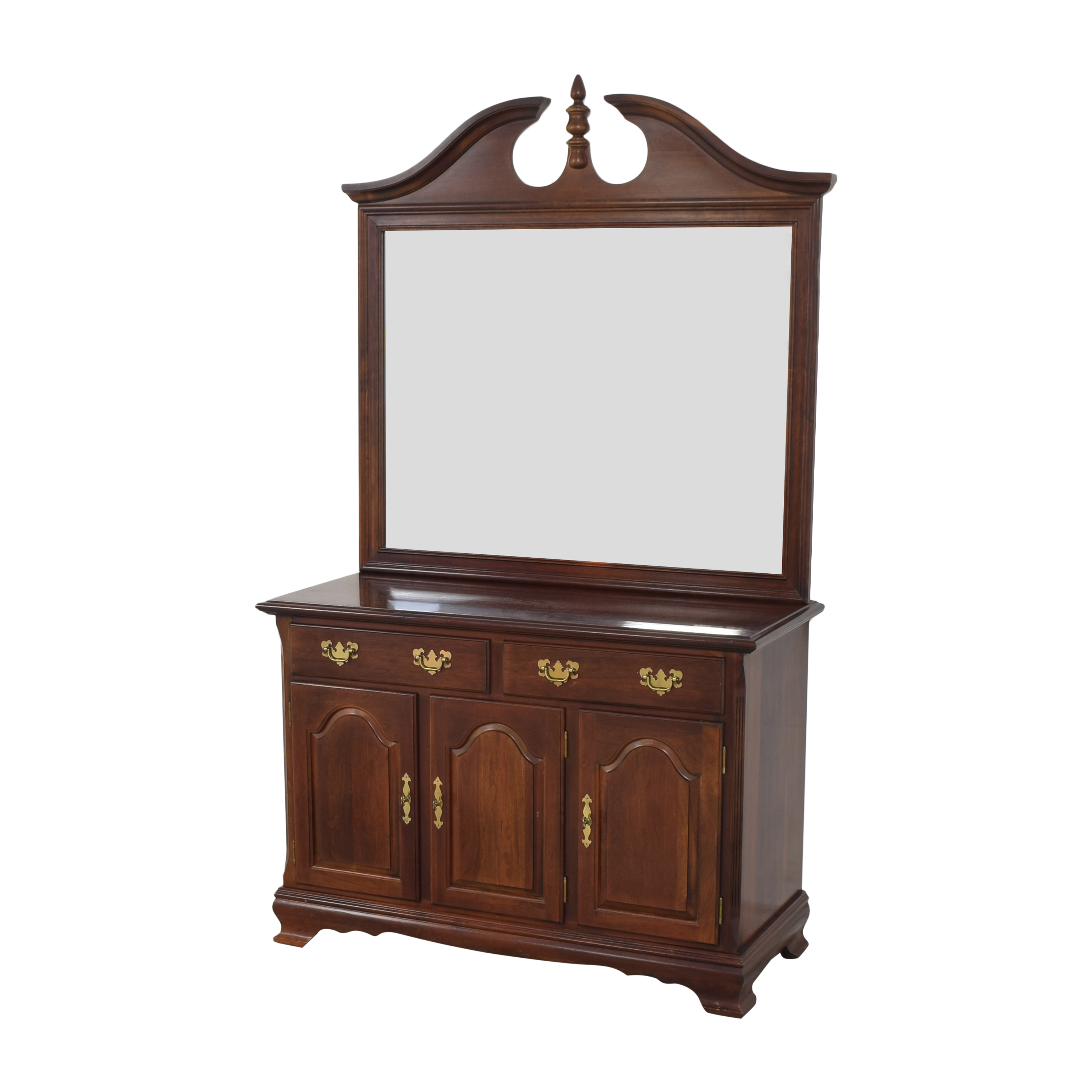 Drexel Heritage Drexel Heritage Chippendale-Style Buffet with Mirror second hand