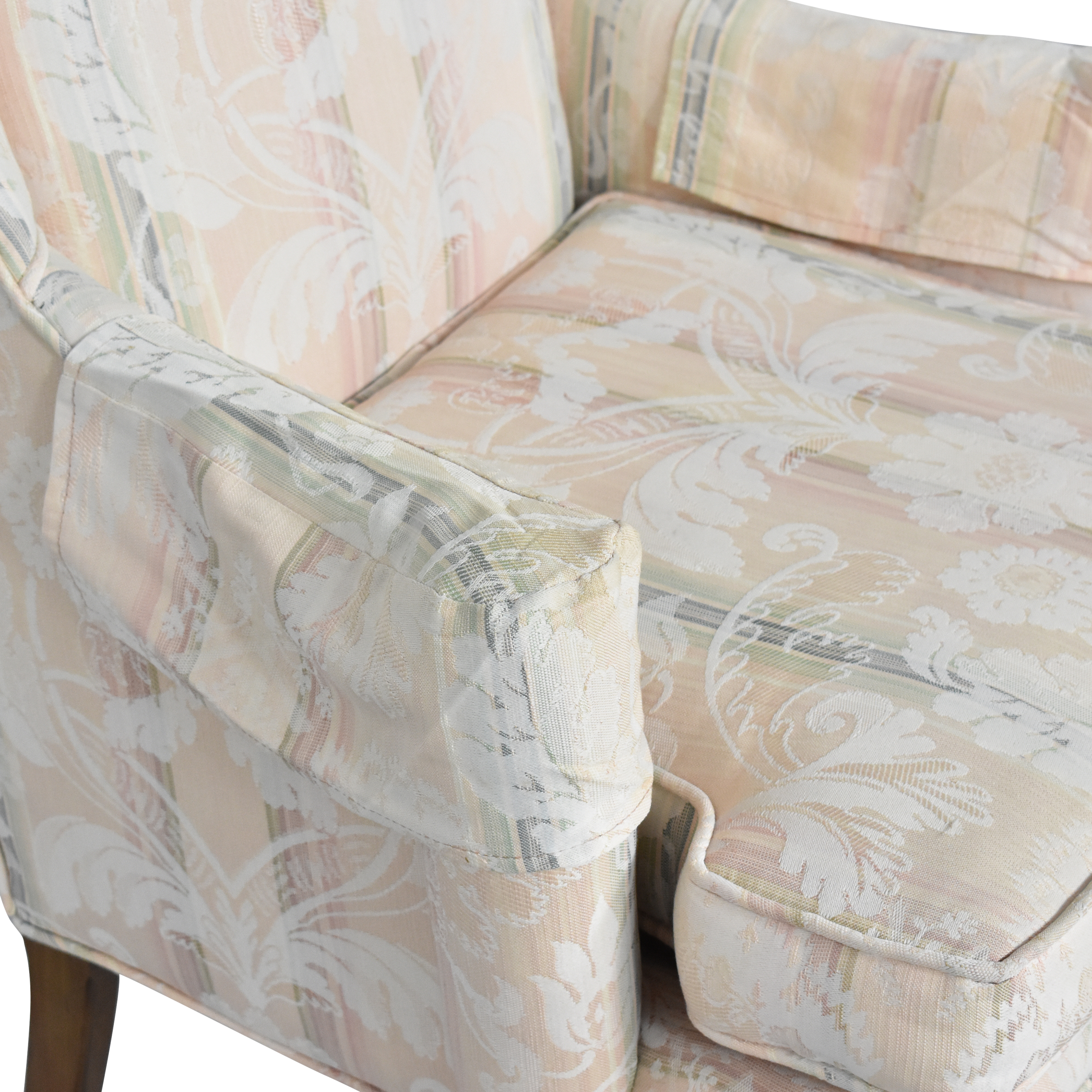 Custom Upholstered Queen Anne Wing Chair ma