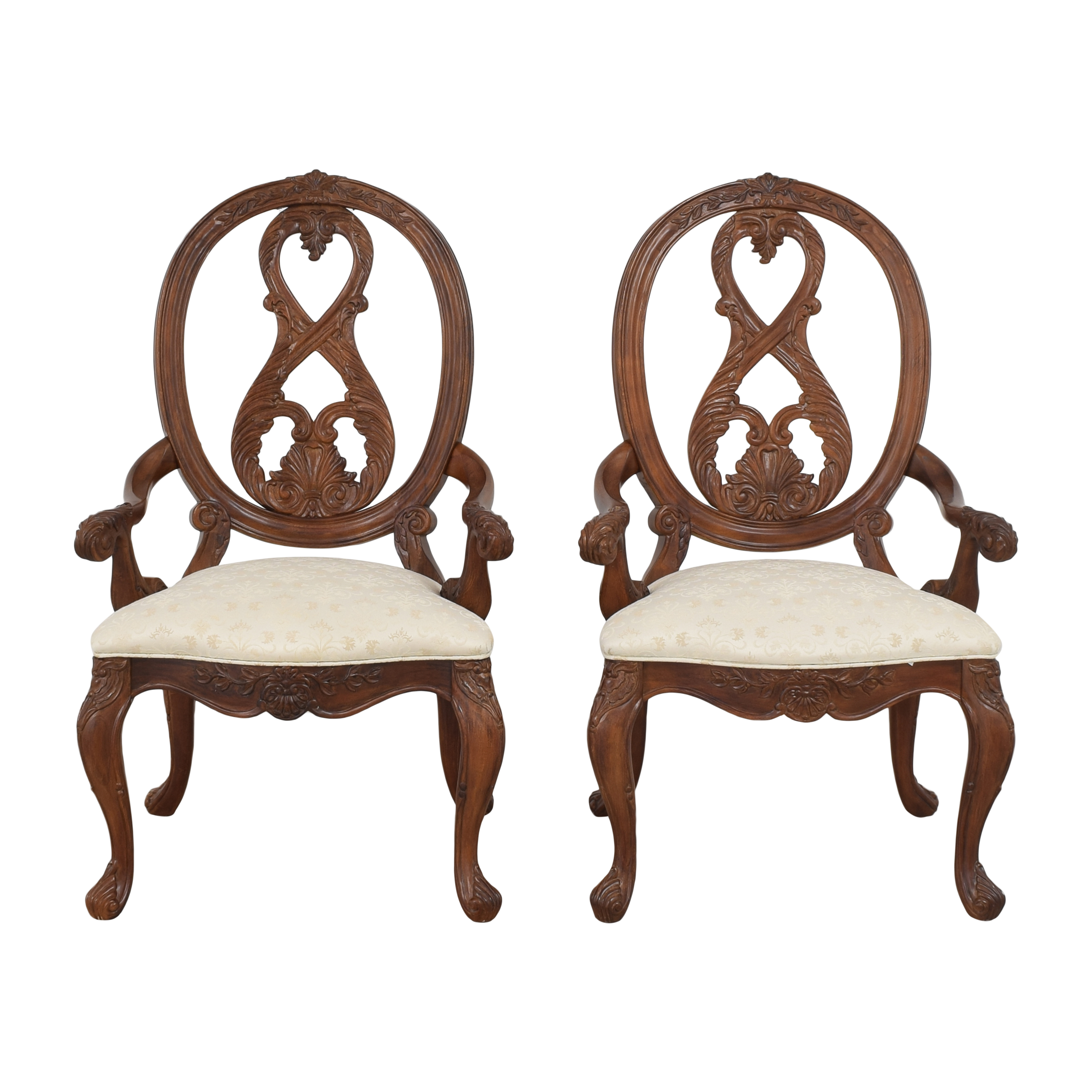 American Drew American Drew Jessica McClintock Home Oval Back Dining Arm Chairs on sale