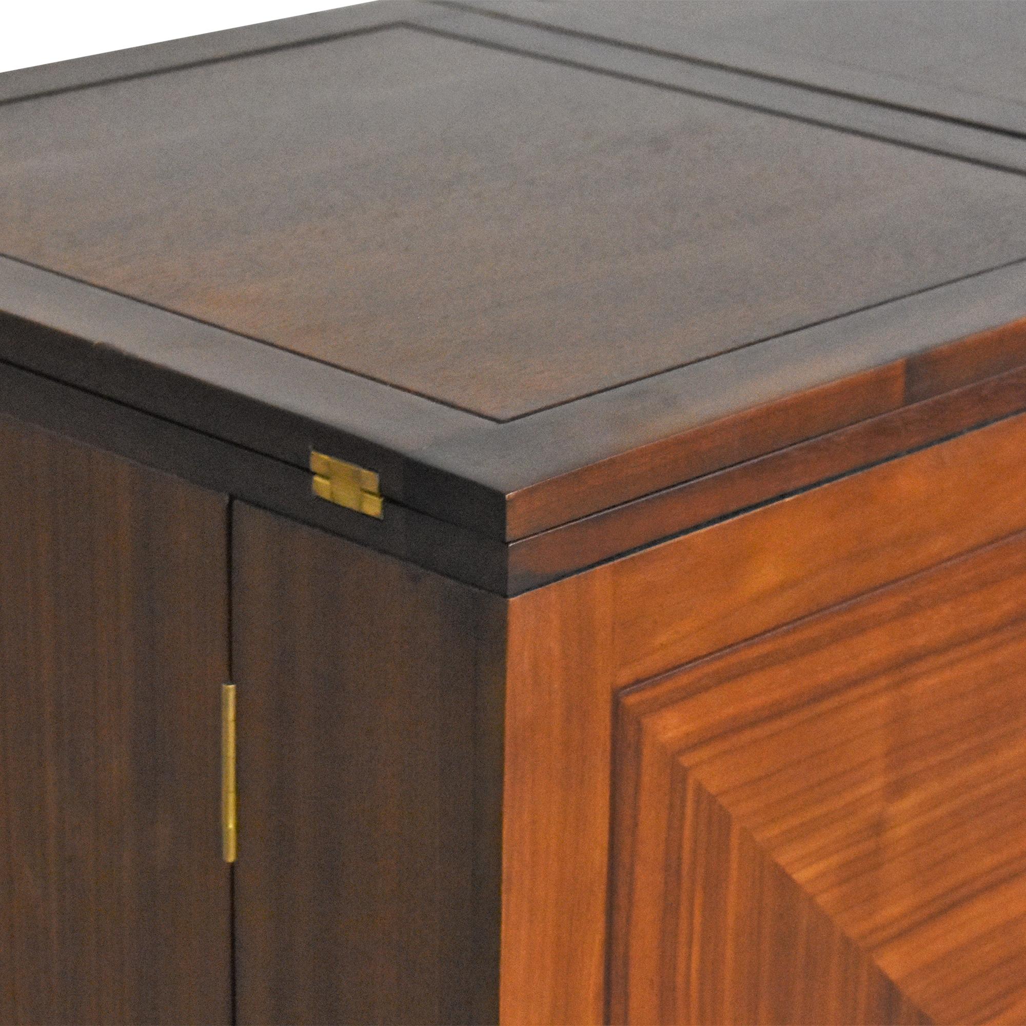 Crate & Barrel Maxine Bar Cabinet Crate & Barrel