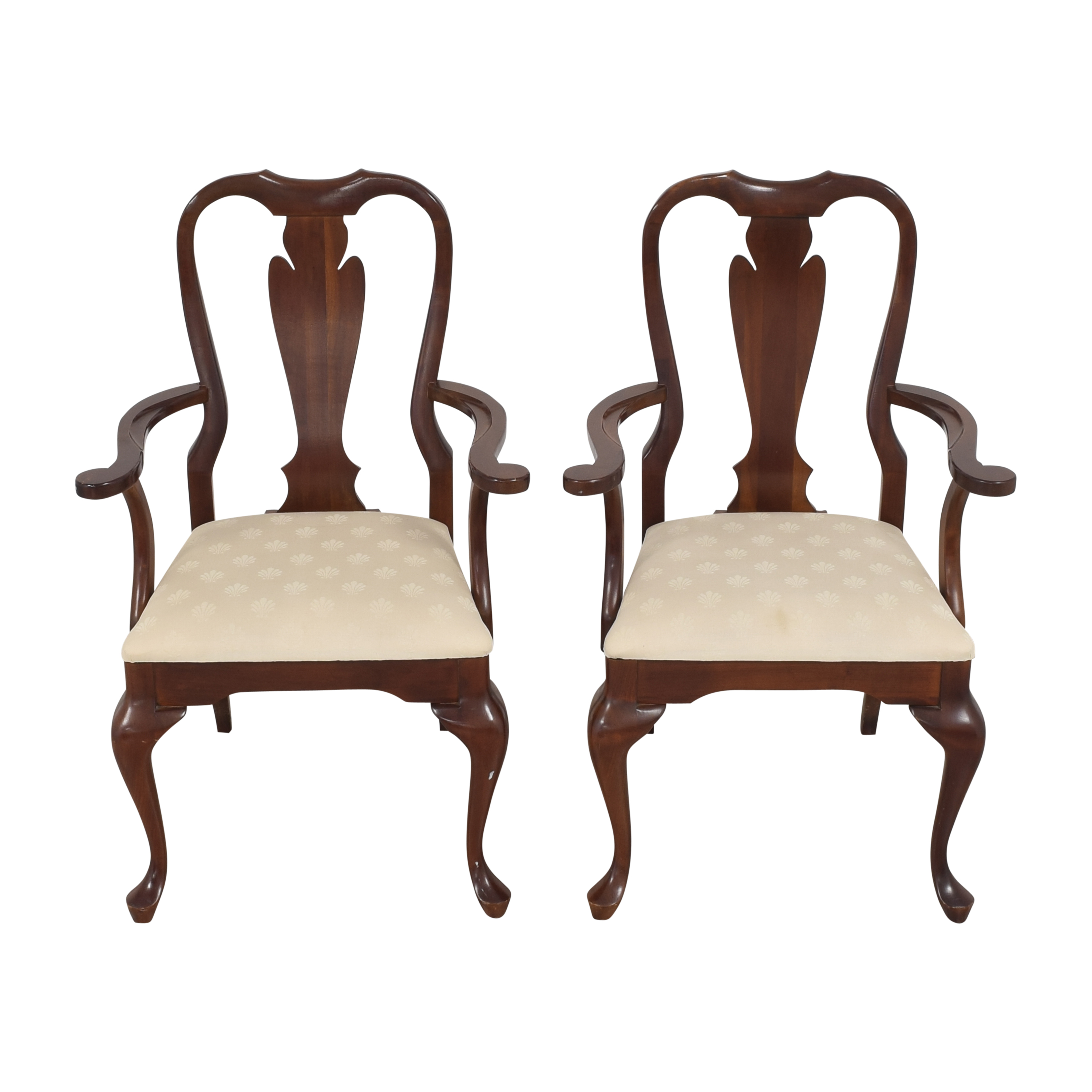 Cresent Furniture Cresent Furniture Queen Anne Dining Arm Chairs discount