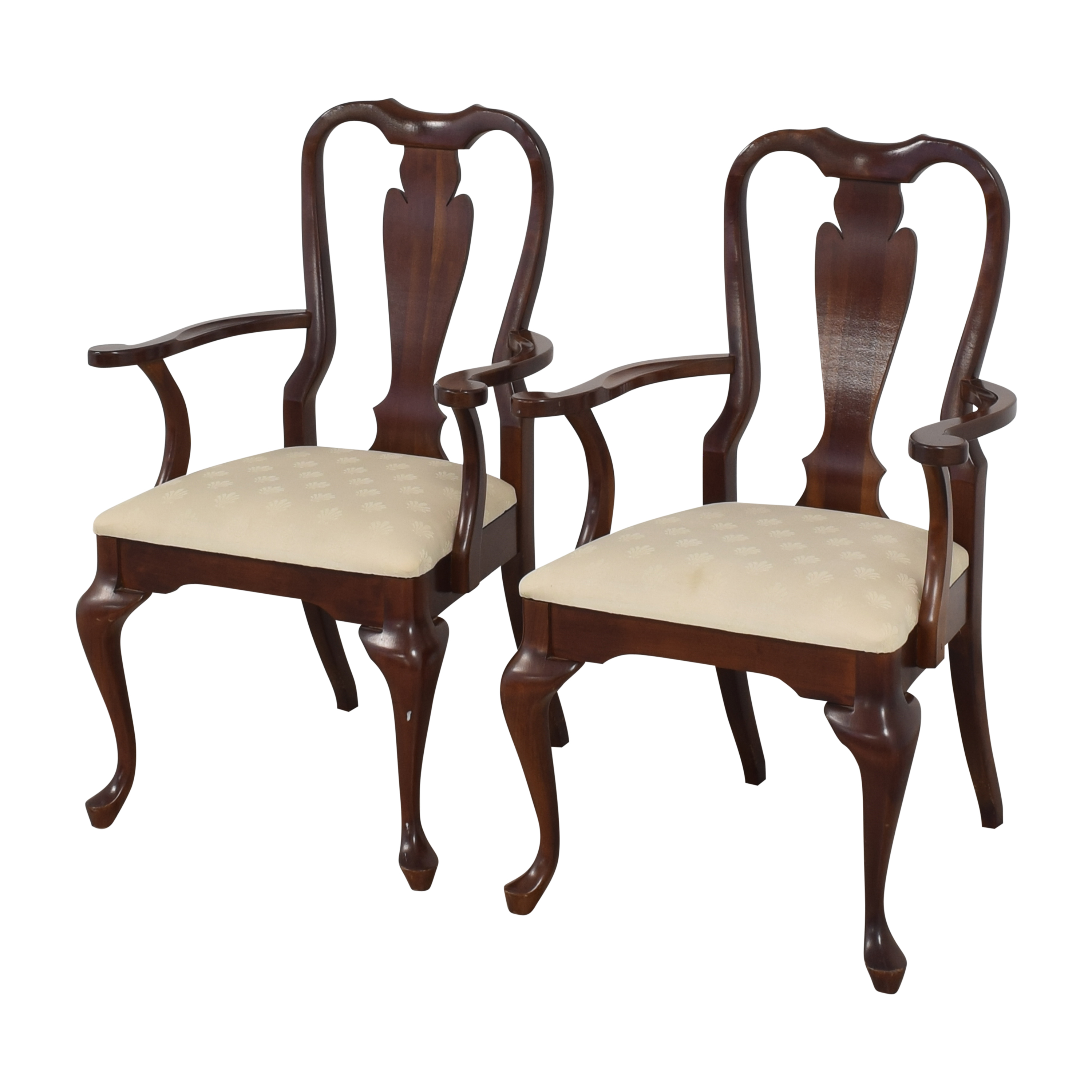 Cresent Furniture Cresent Furniture Queen Anne Dining Arm Chairs ma