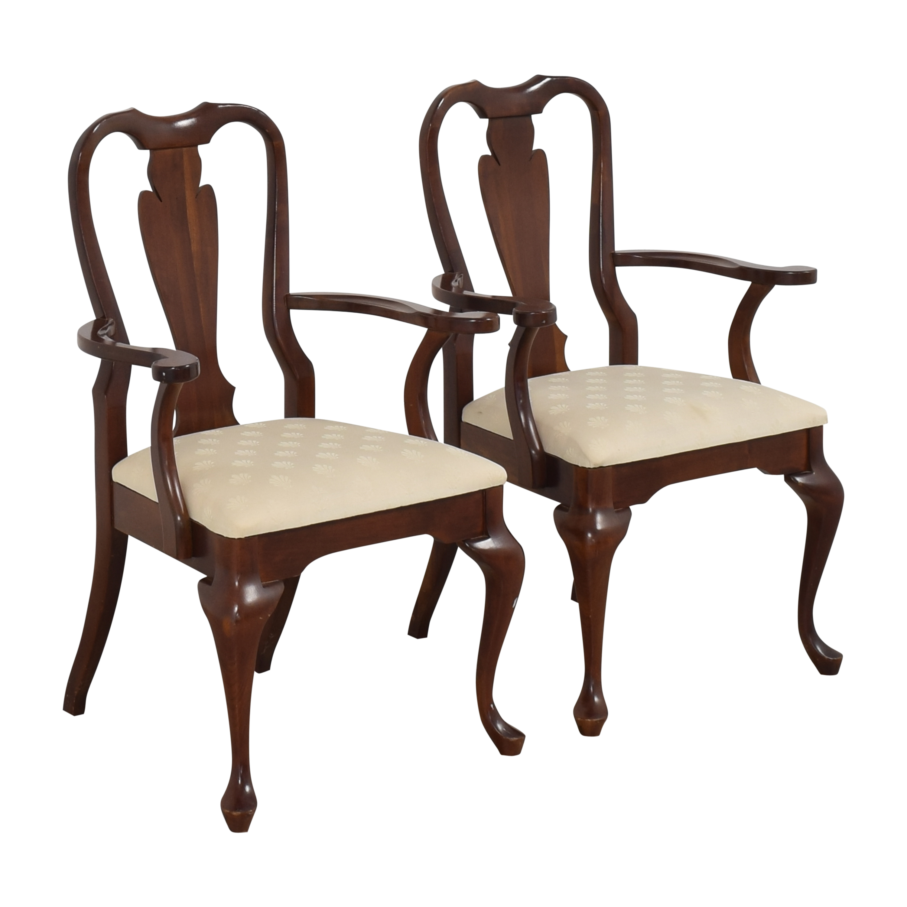 Cresent Furniture Cresent Furniture Queen Anne Dining Arm Chairs Chairs