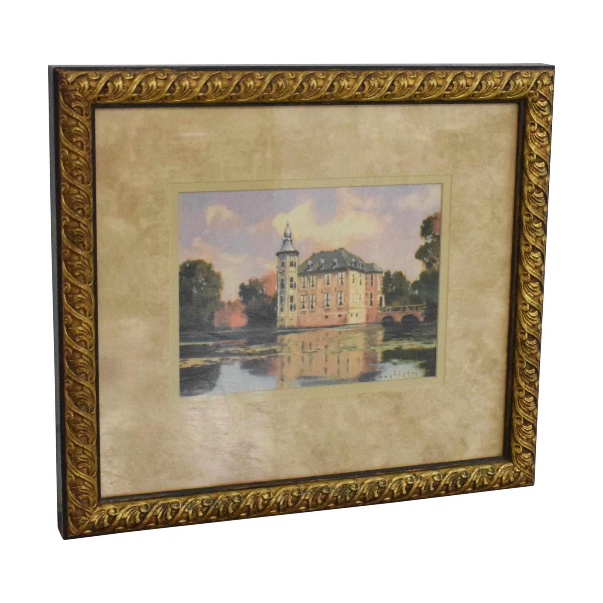 buy Ethan Allen Hayslette Chateau in Autumn Framed Wall Art Ethan Allen