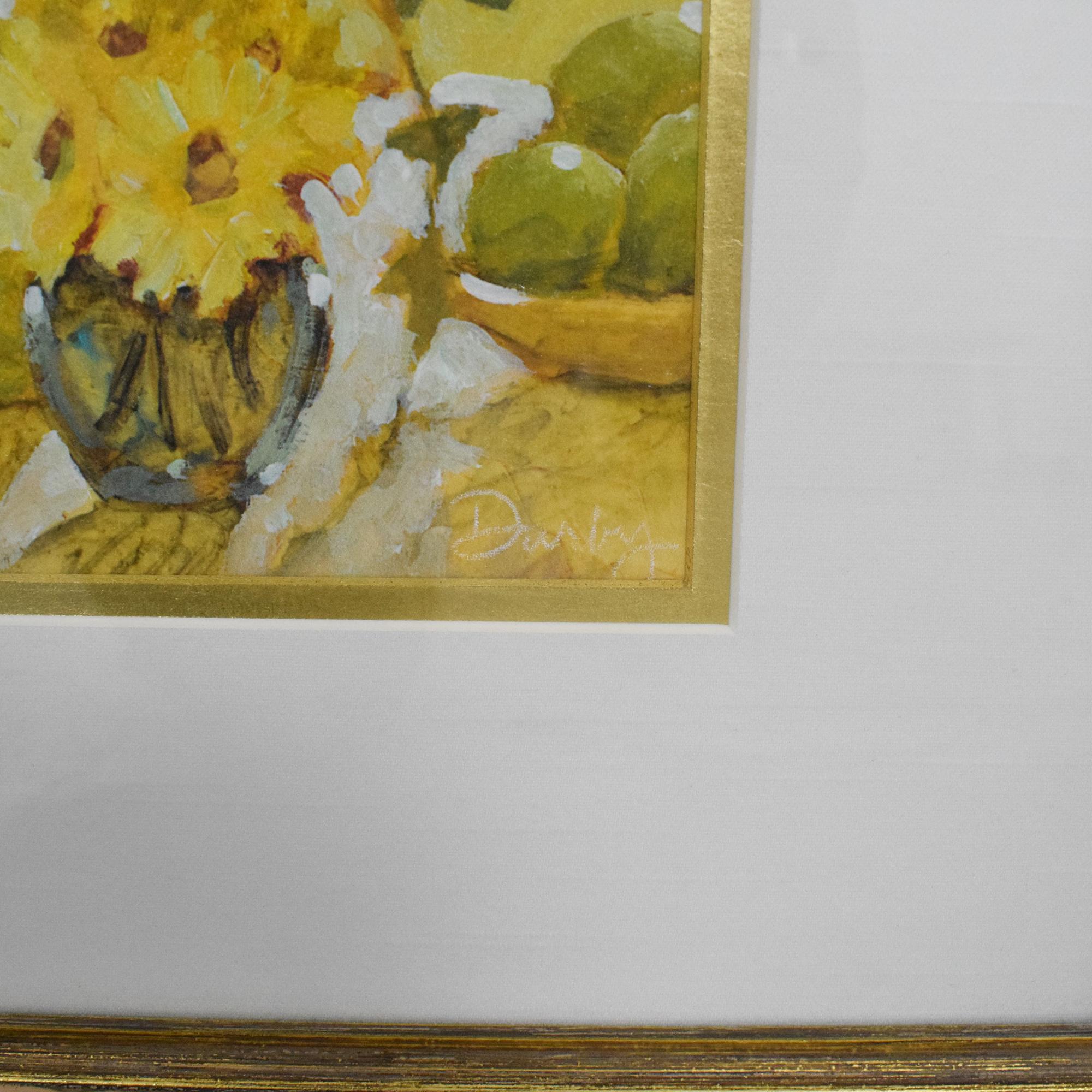 shop Ethan Allen Flowers Framed Wall Art Ethan Allen Wall Art