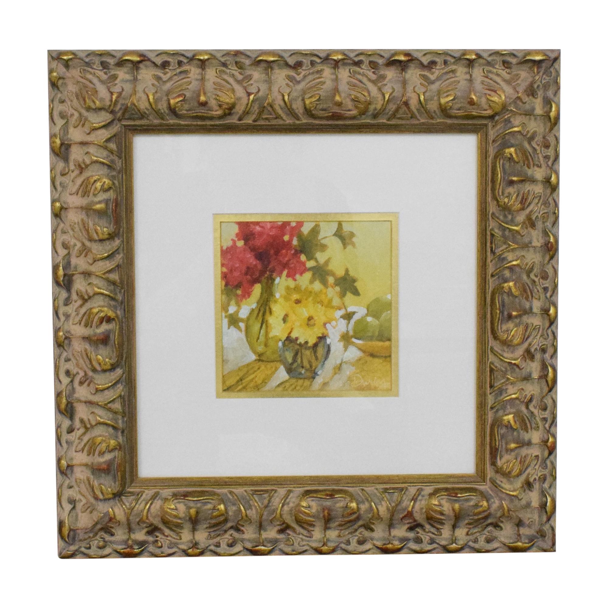 Ethan Allen Ethan Allen Flowers Framed Wall Art coupon