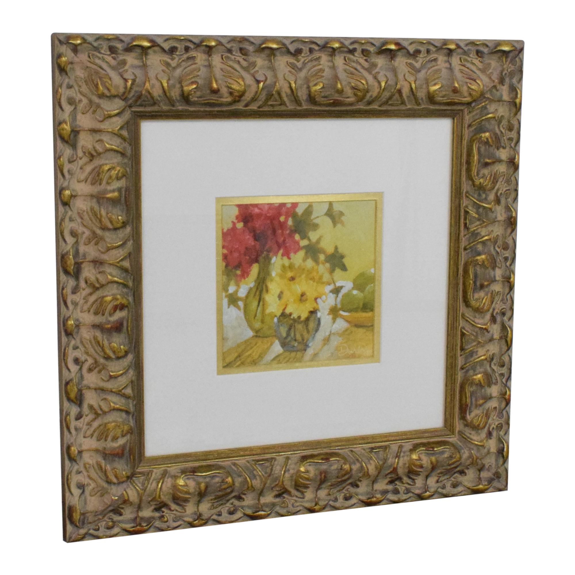 shop Ethan Allen Ethan Allen Flowers Framed Wall Art online