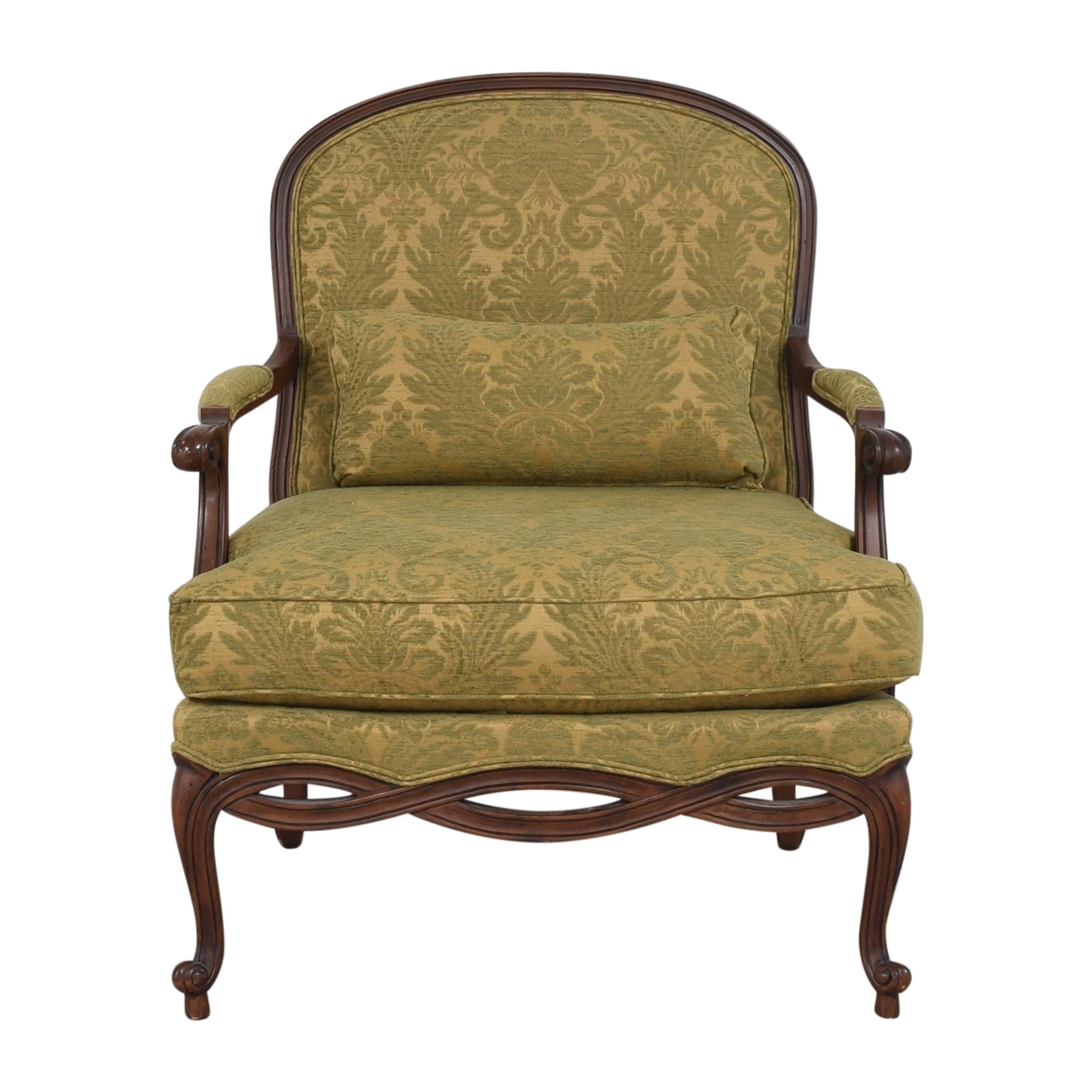 Ethan Allen Ethan Allen Bergere Chair Brown / Green