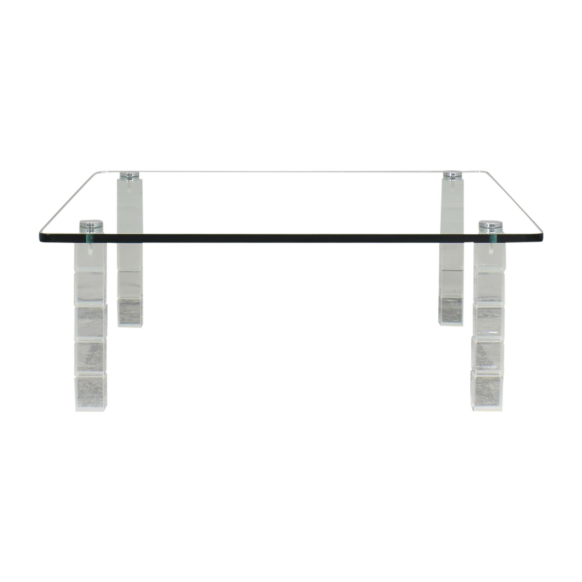 Square Transparent Coffee Table price