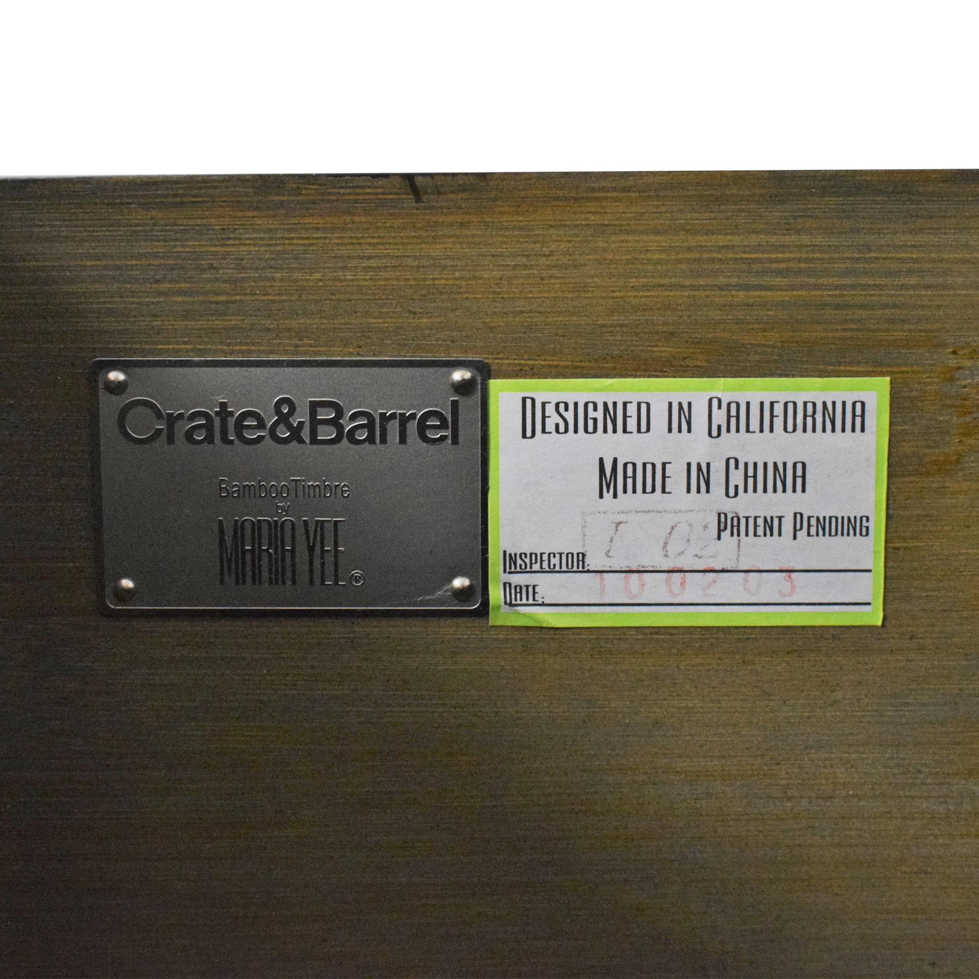 Crate & Barrel Maria Yee for Crate & Barrel Bento Kona Dresser  nj