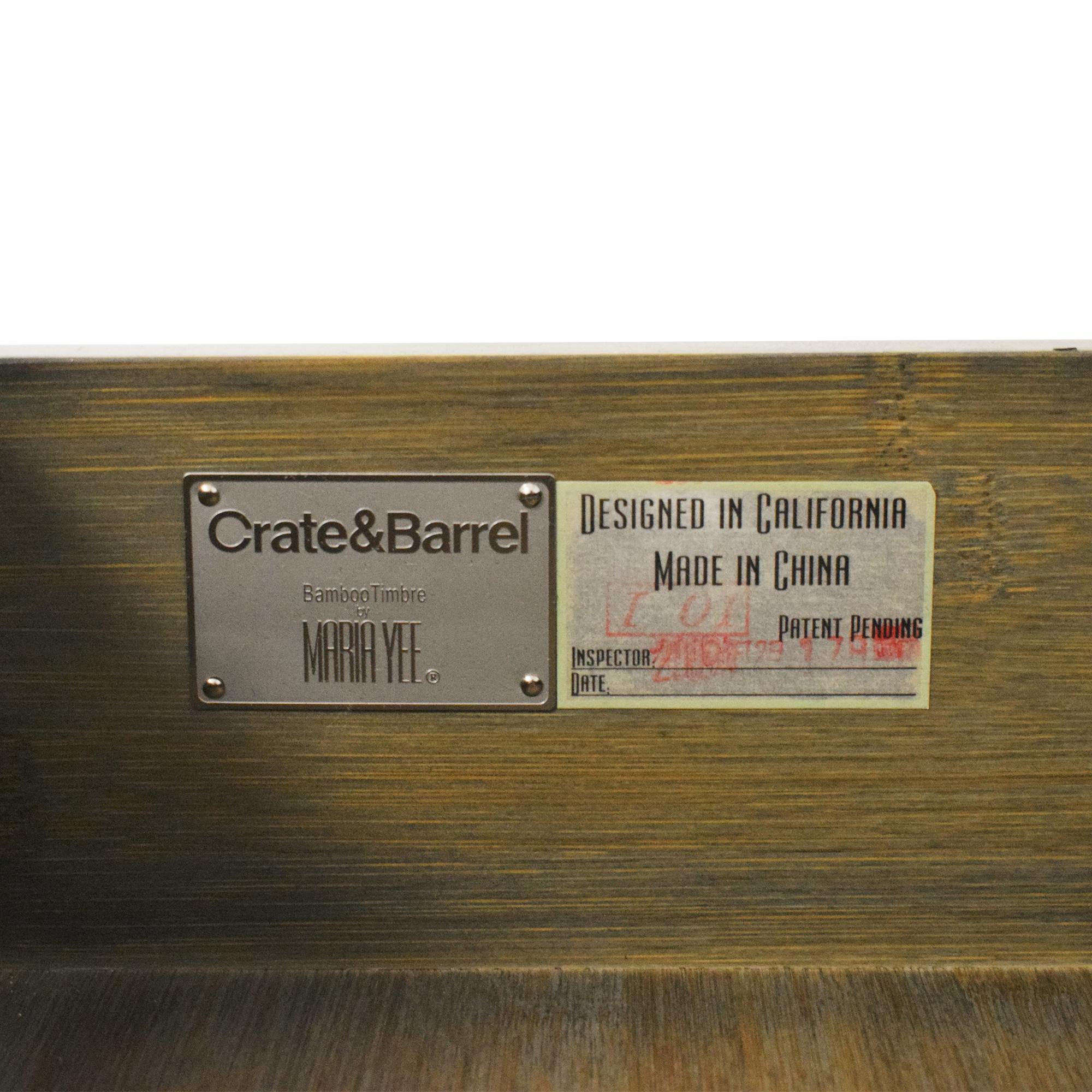 Crate & Barrel Maria Yee for Crate & Barrel Bento Kona Nightstands End Tables
