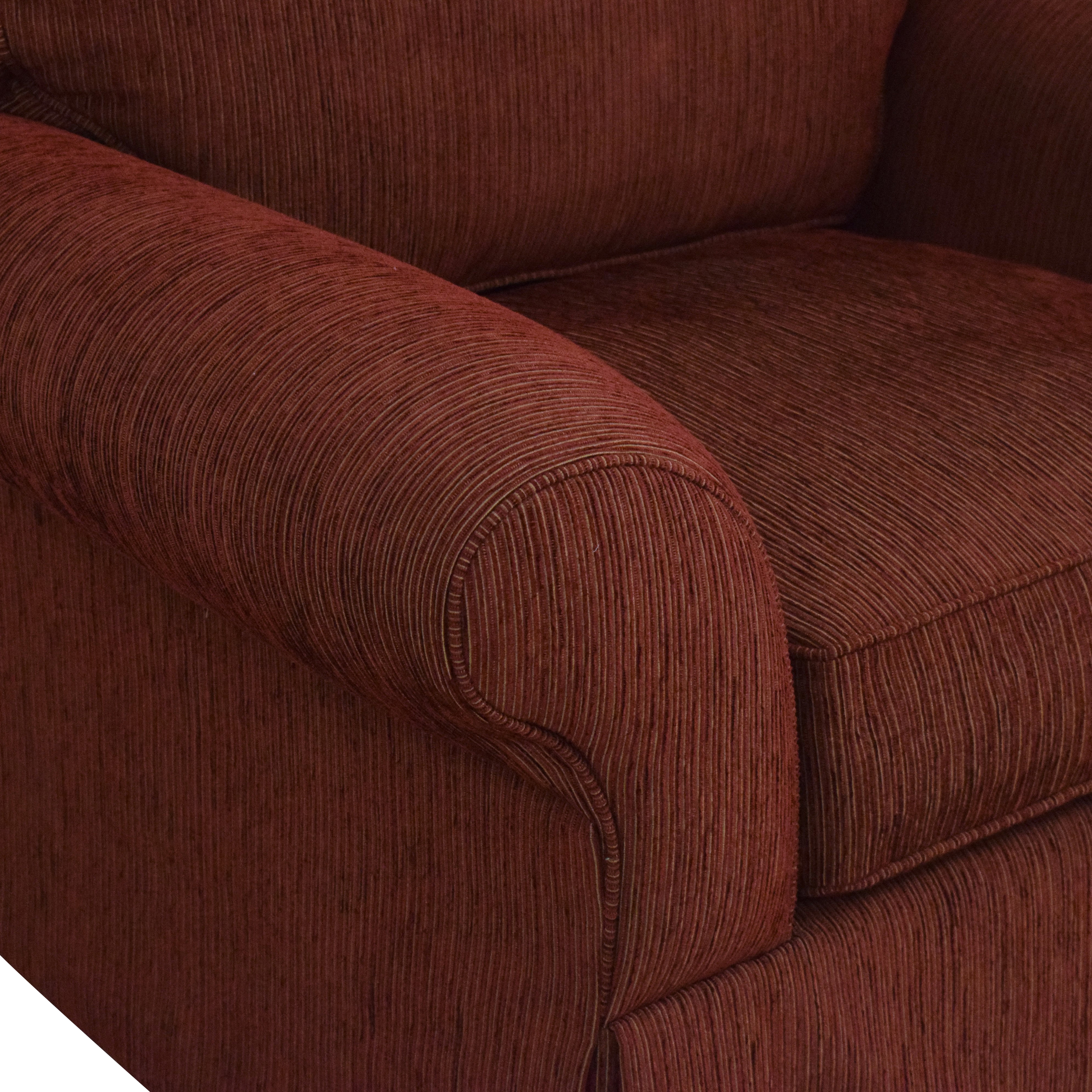 Crate & Barrel Crate & Barrel Skirted Roll Arm Accent Chair