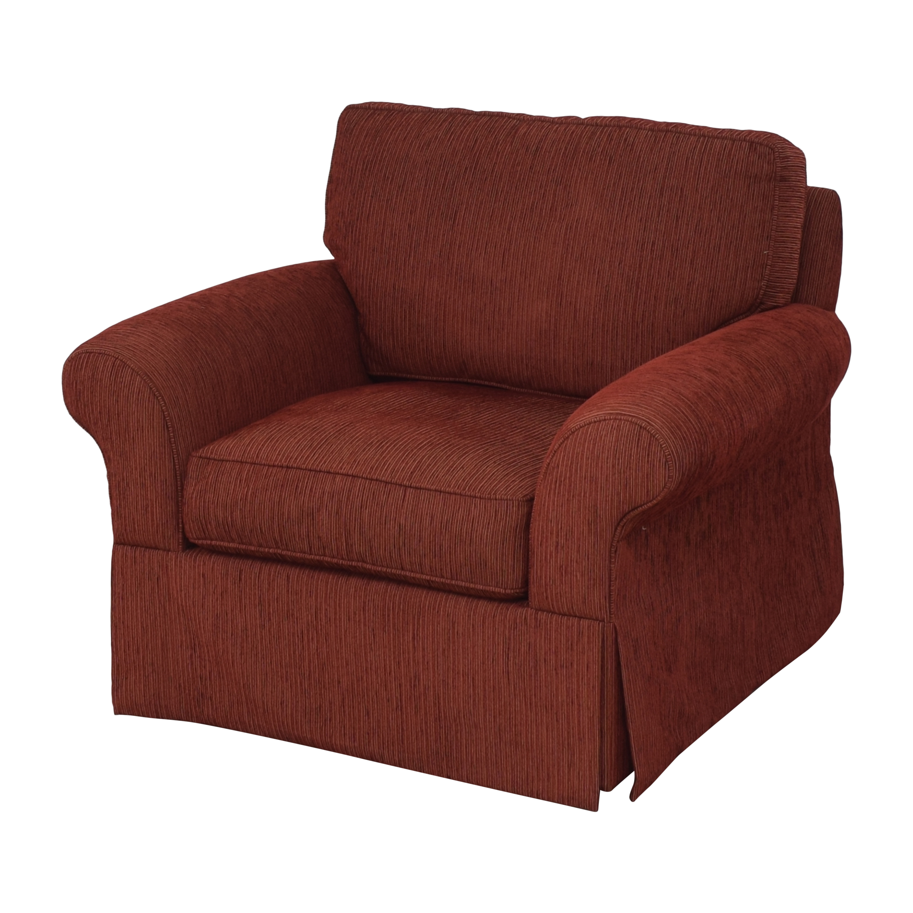 Crate & Barrel Crate & Barrel Skirted Roll Arm Accent Chair red