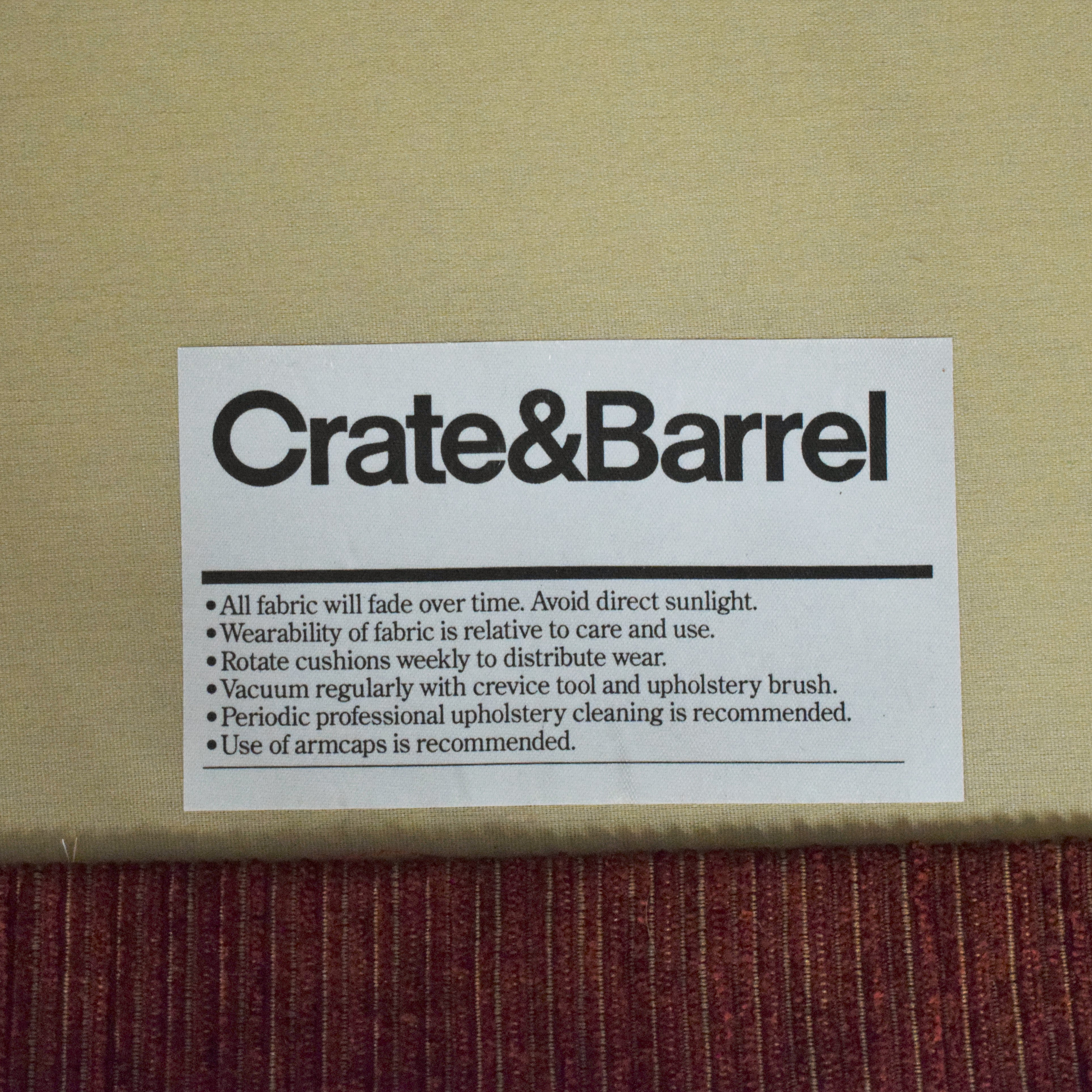 Crate & Barrel Crate & Barrel Skirted Roll Arm Accent Chair second hand