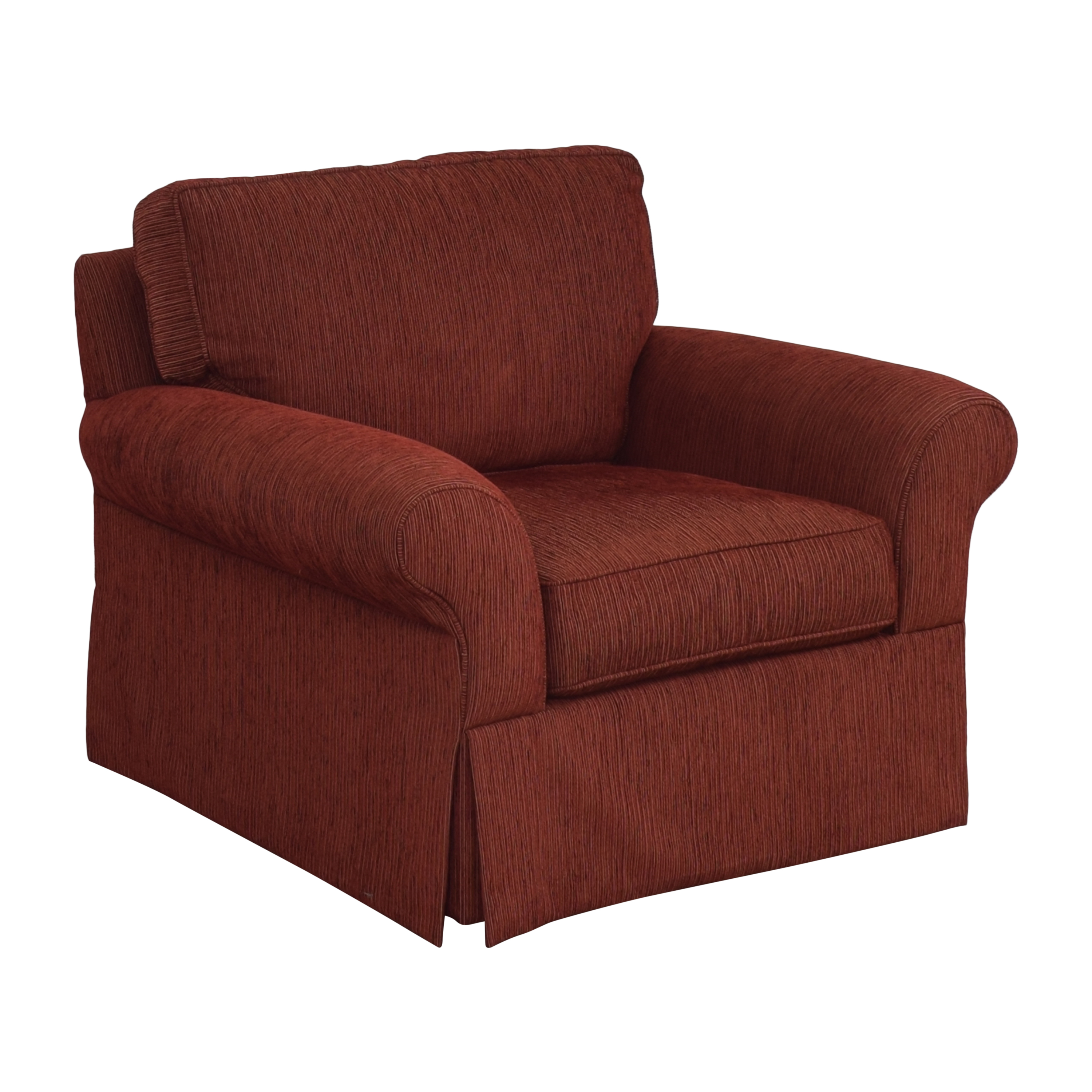 Crate & Barrel Crate & Barrel Skirted Roll Arm Accent Chair pa