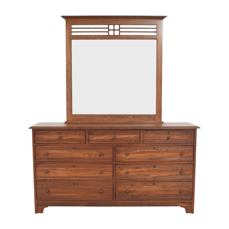 Durham Furniture Triple Dresser with Mirror sale