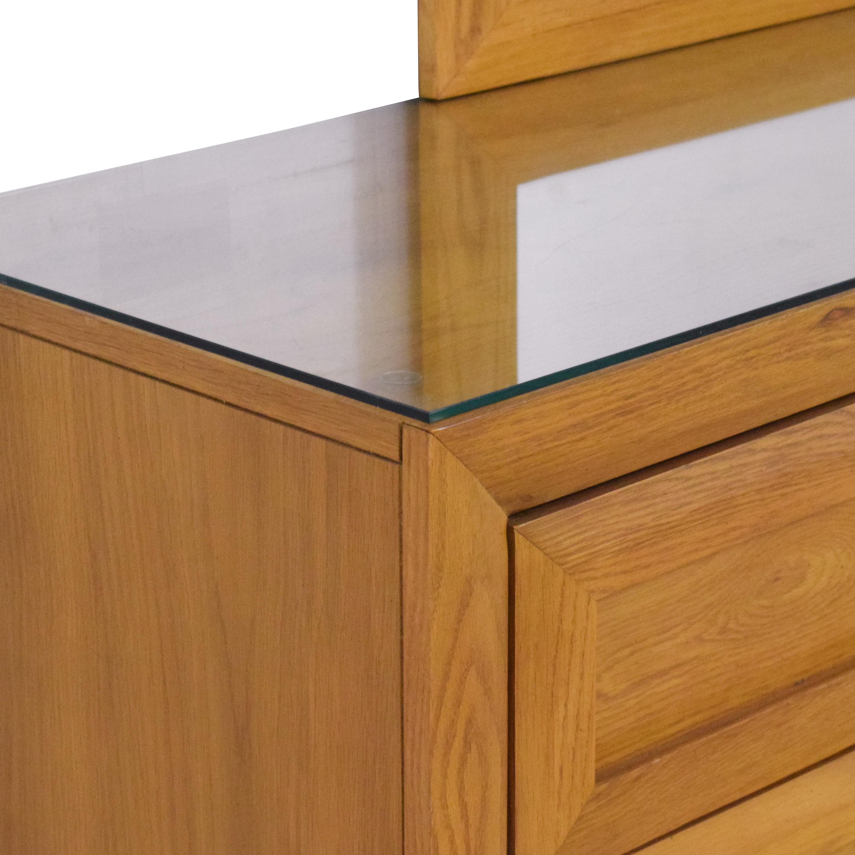 shop Thomasville Double Dresser with Mirror Thomasville Dressers