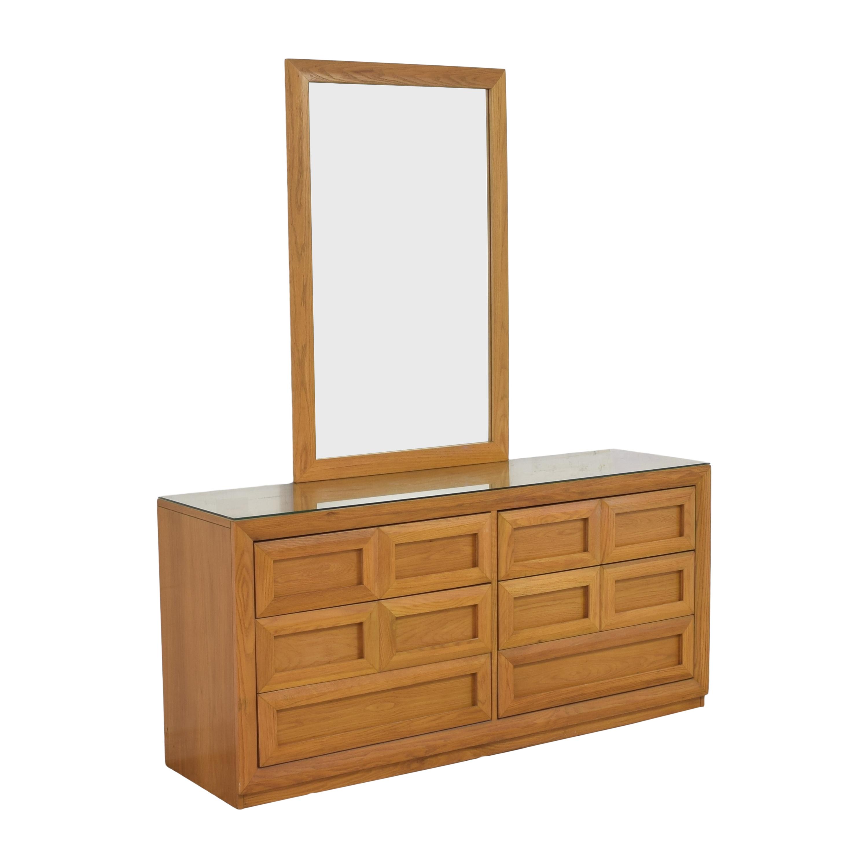 Thomasville Thomasville Double Dresser with Mirror