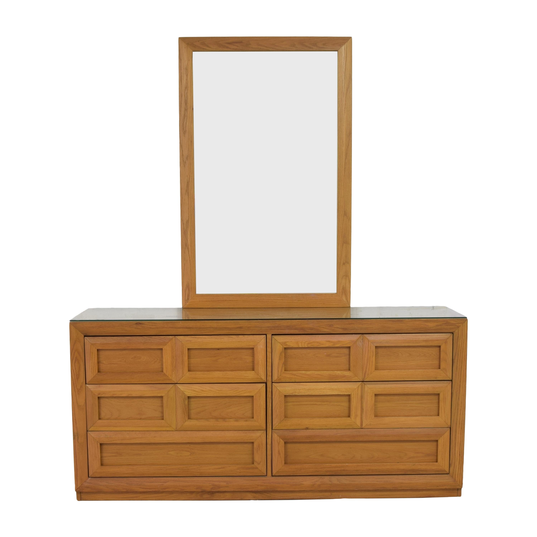Thomasville Thomasville Double Dresser with Mirror on sale