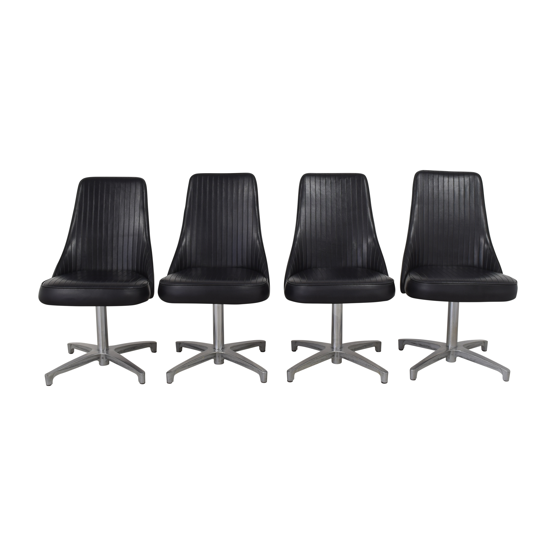 Chromcraft Chromcraft Mid-Century Modern Swivel Dining Chairs on sale