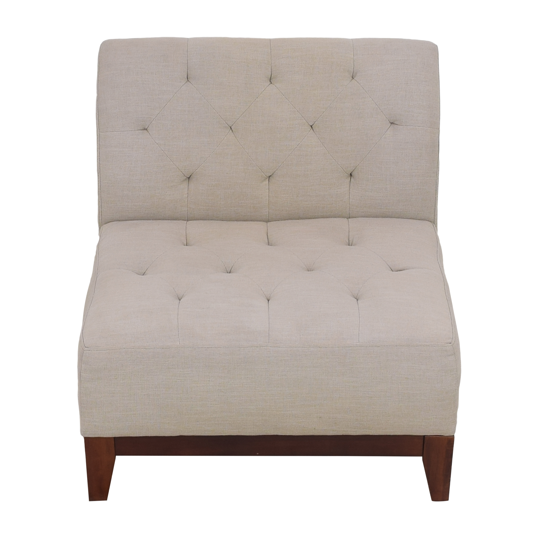 Macy's Macy's Tufted Slipper Chair nj