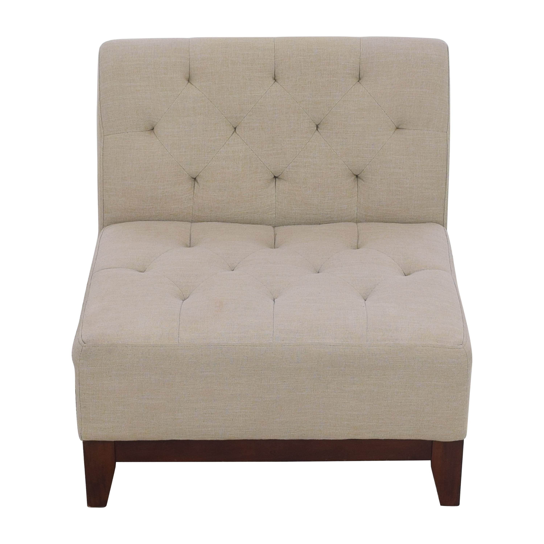 Macy's Macy's Tufted Slipper Chair ma