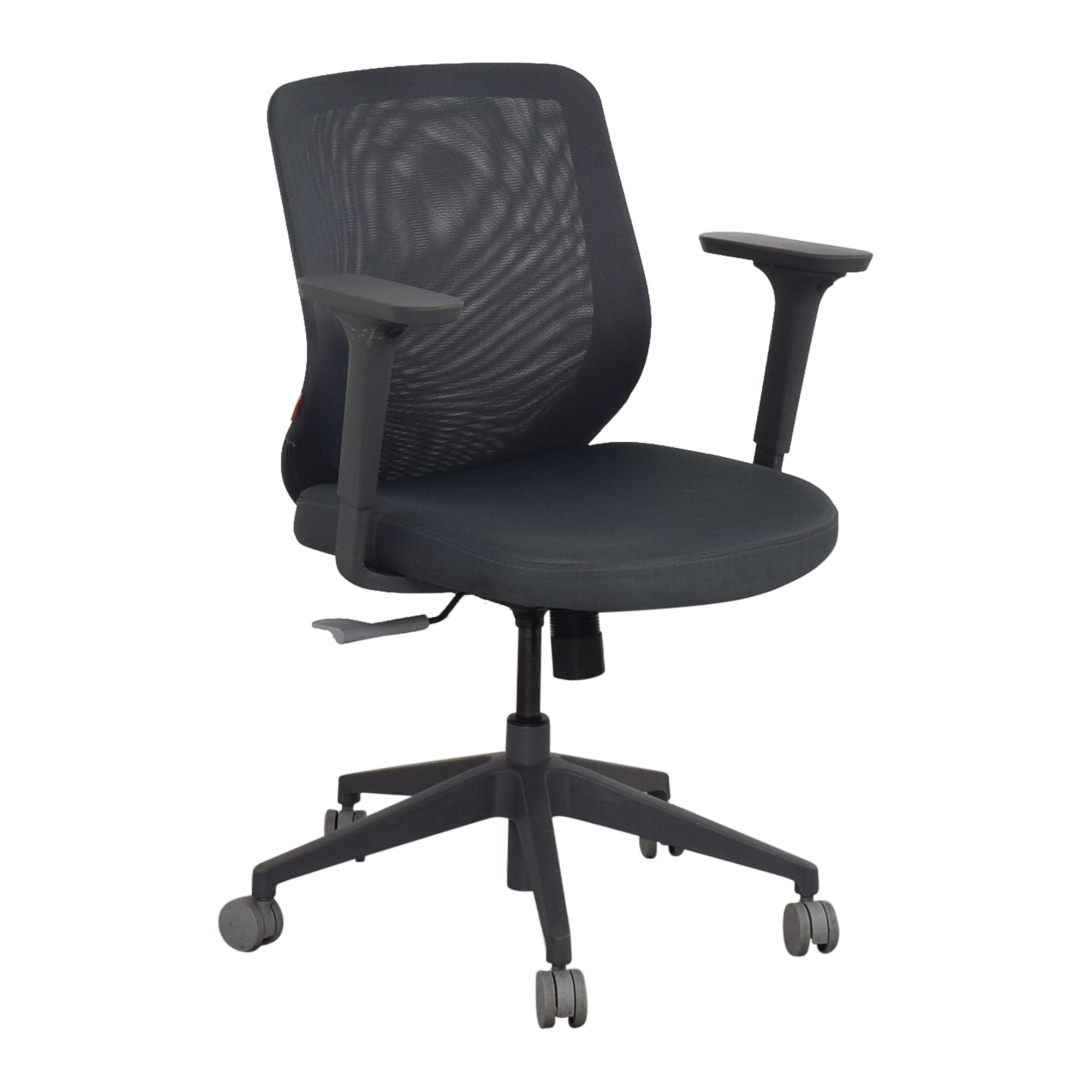 Poppin Poppin Max Task Chair gray