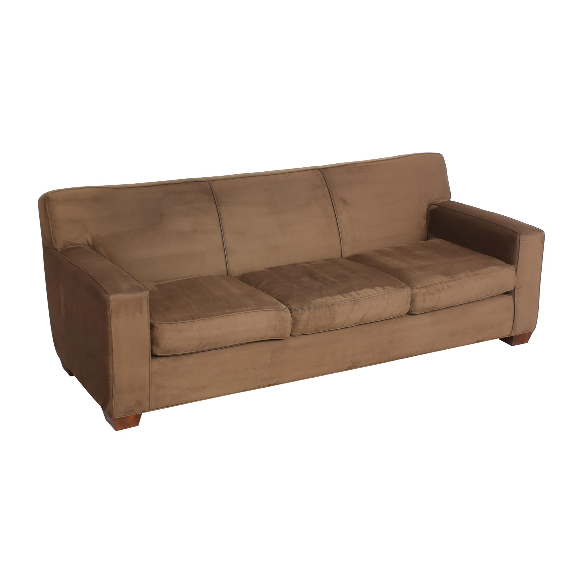 Crate & Barrel Crate & Barrel Three Cushion Sofa dimensions