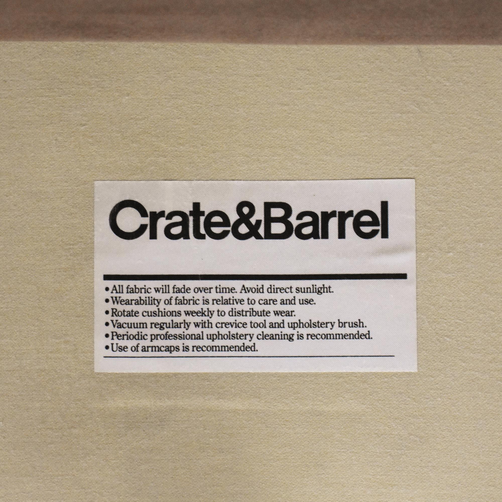 Crate & Barrel Three Cushion Sofa sale