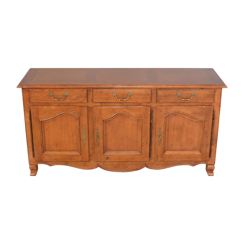 shop Bloomingdale's Three Door Sideboard Bloomingdale's Cabinets & Sideboards